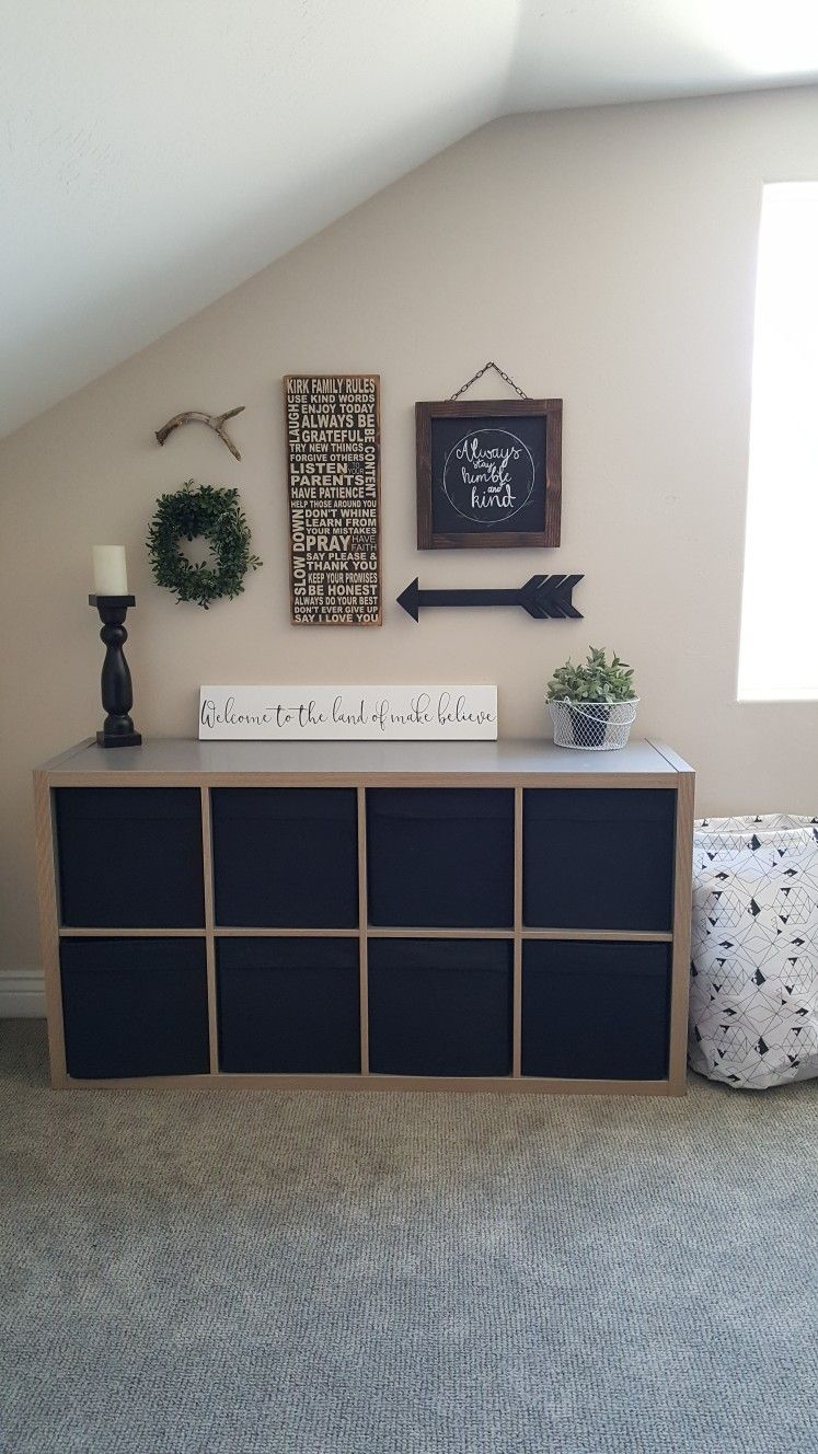 Farmhouse Style Playroom Gallery Wall Ideas Kids Toy Area