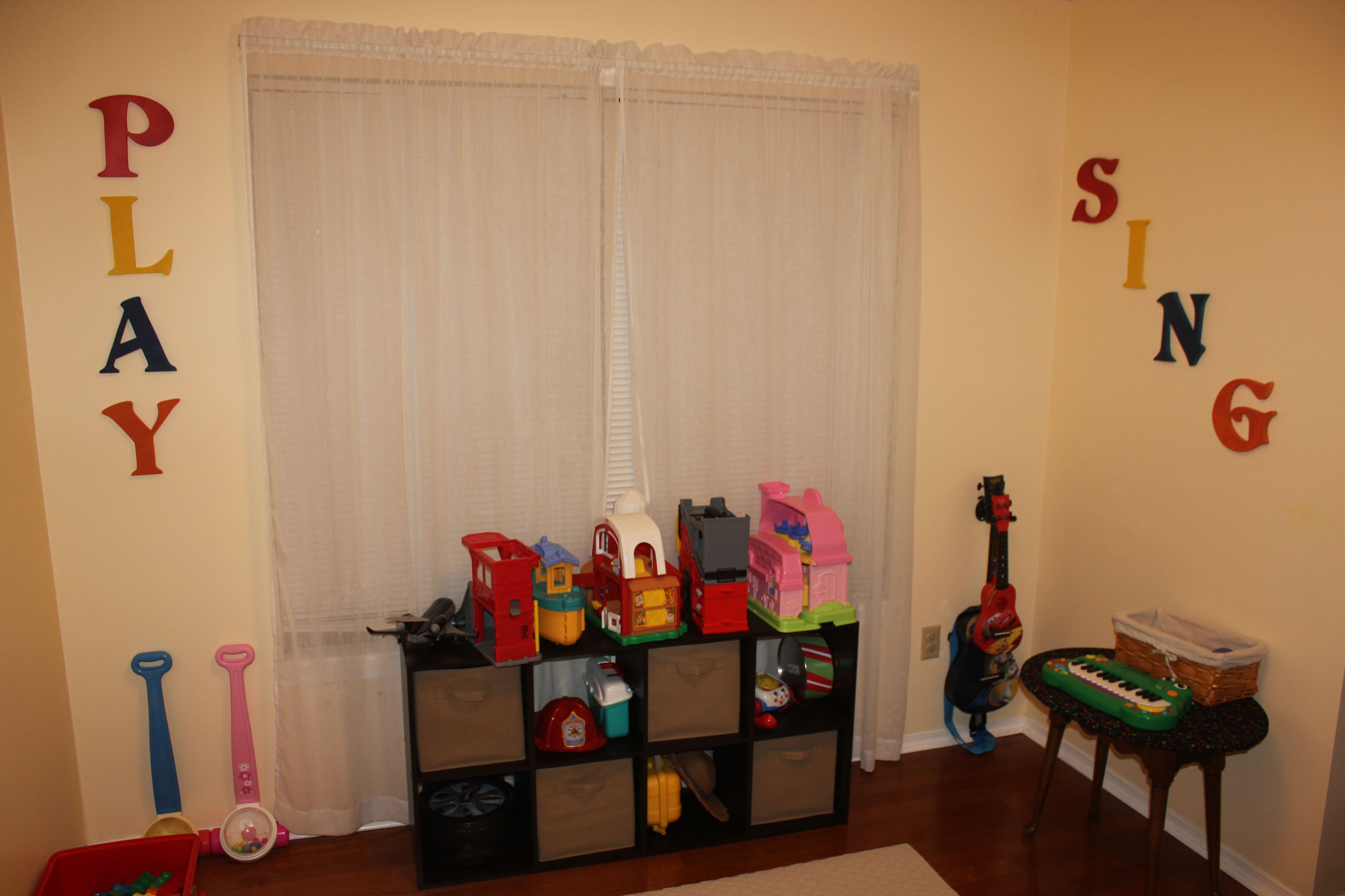 The Music Area In The Kid's Playroom | Home | Playroom, Home