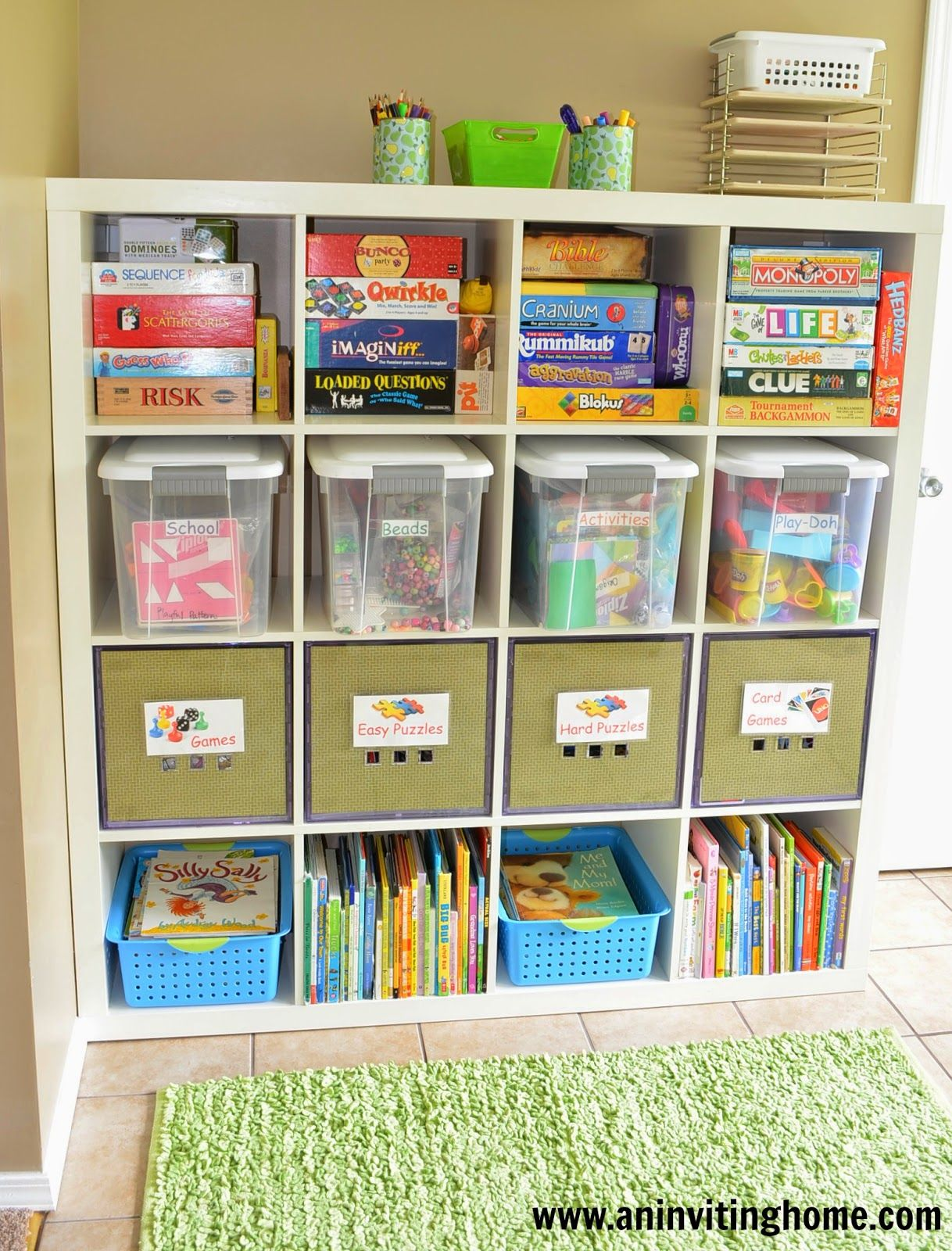How To Organize Games And Toys In Your Kids Playroom Great