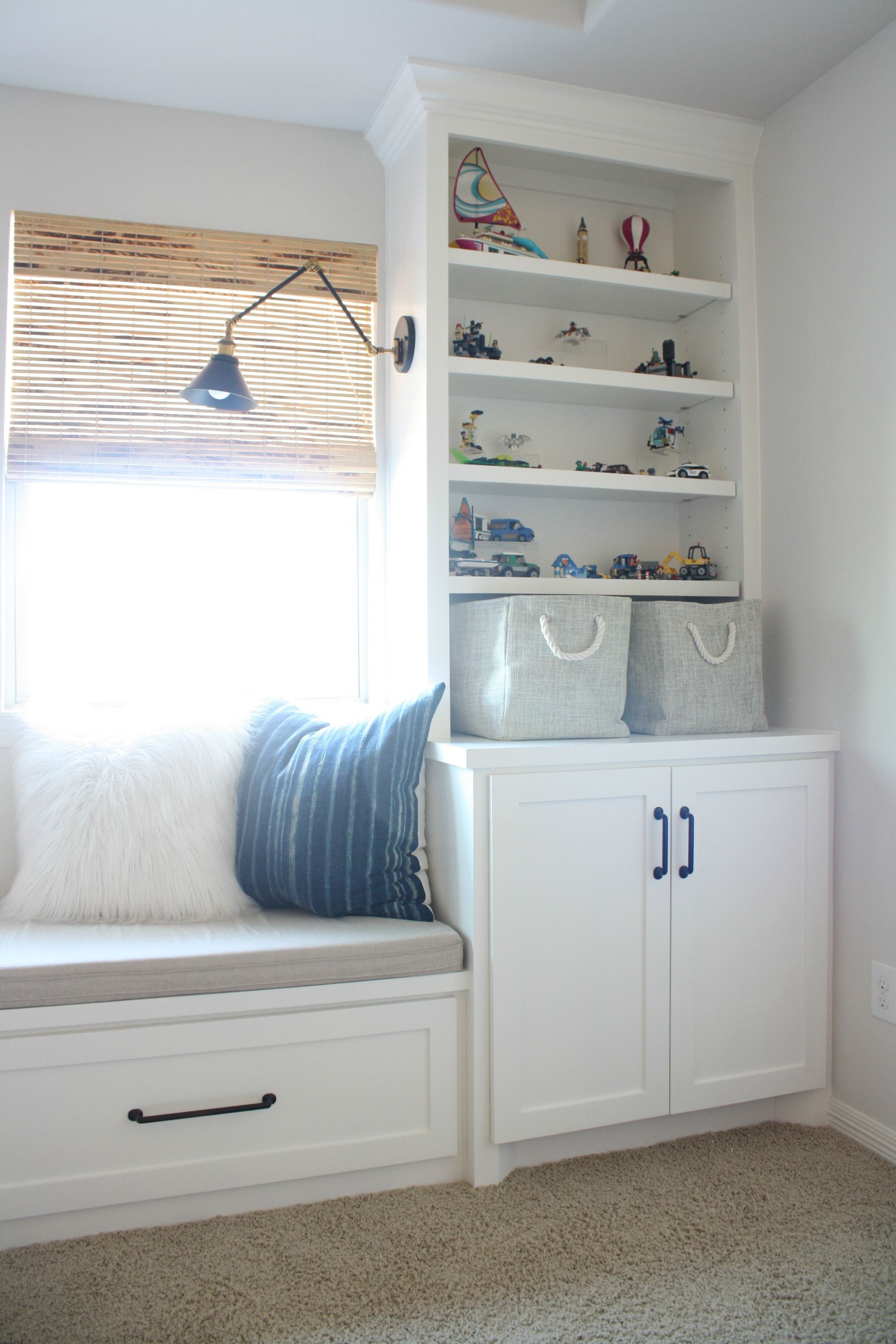 Playroom Makeover With Built Ins, Playroom Organization, Toy Storage