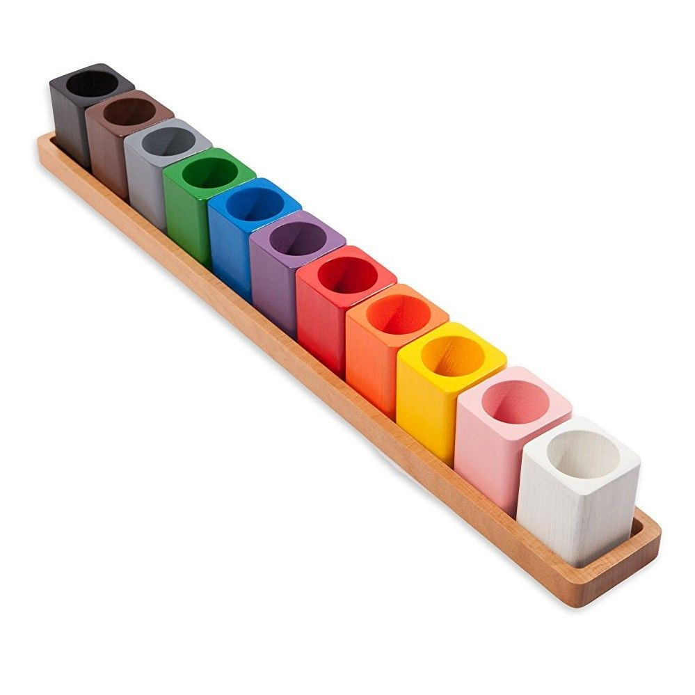 Montessori Pencil Holders On A Wooden Stand | Playroom