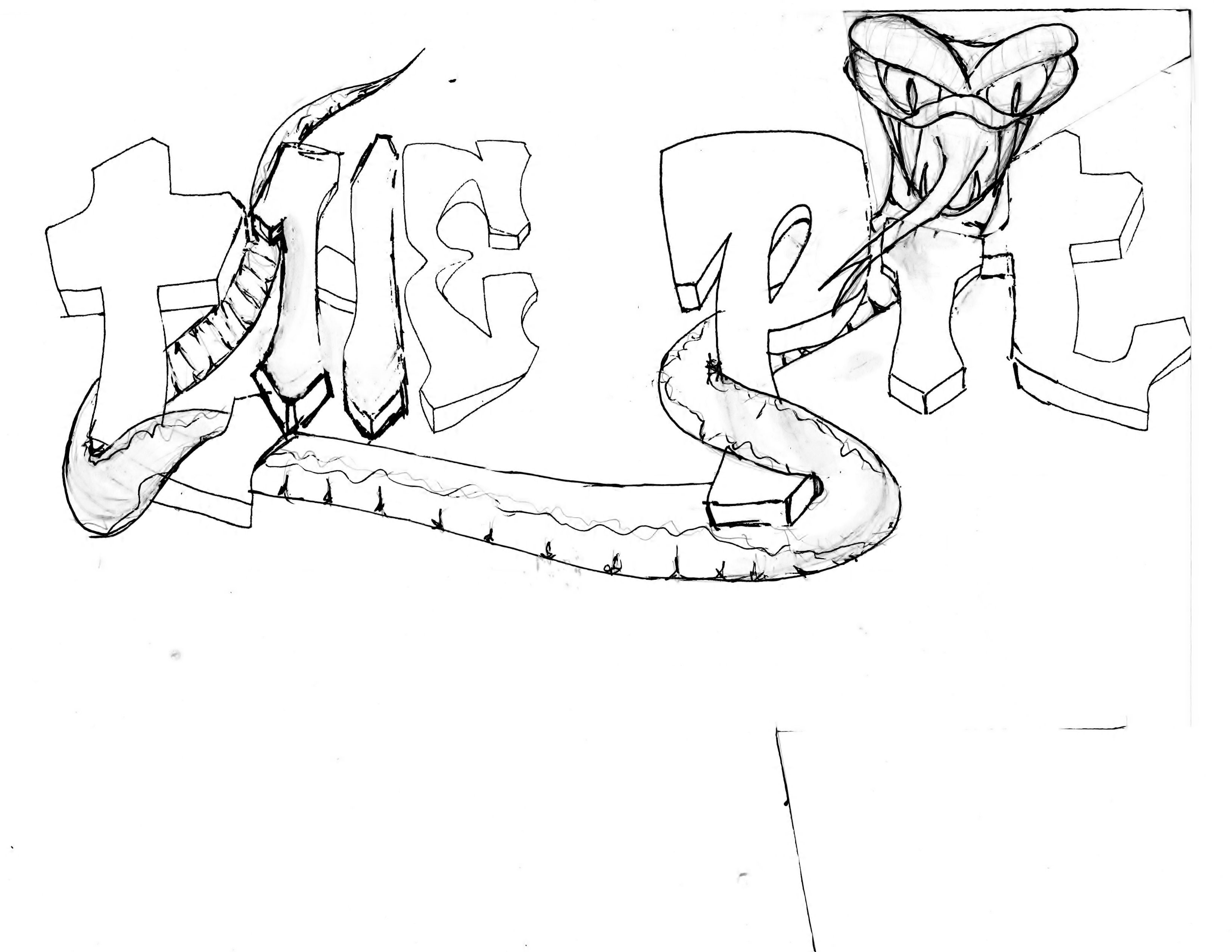 """Playroom Aka """"the Pit"""" Or """"the Snake Pit"""" Mural Sketch"""