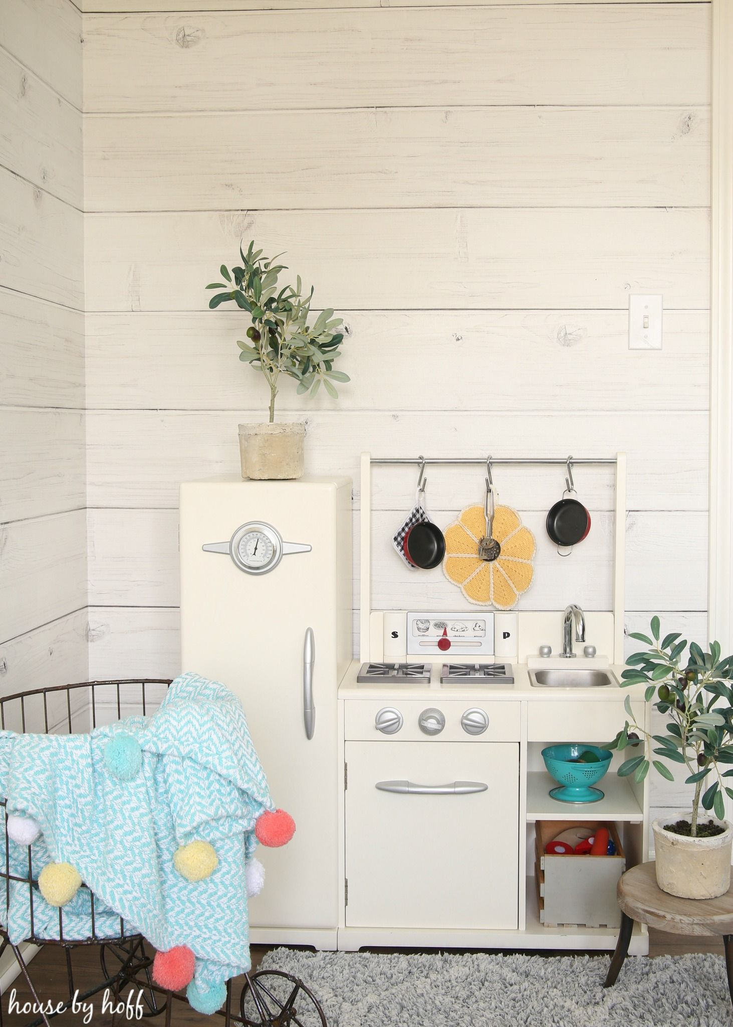 Updating Our Walls With Shiplap Wallpaper   Playroom
