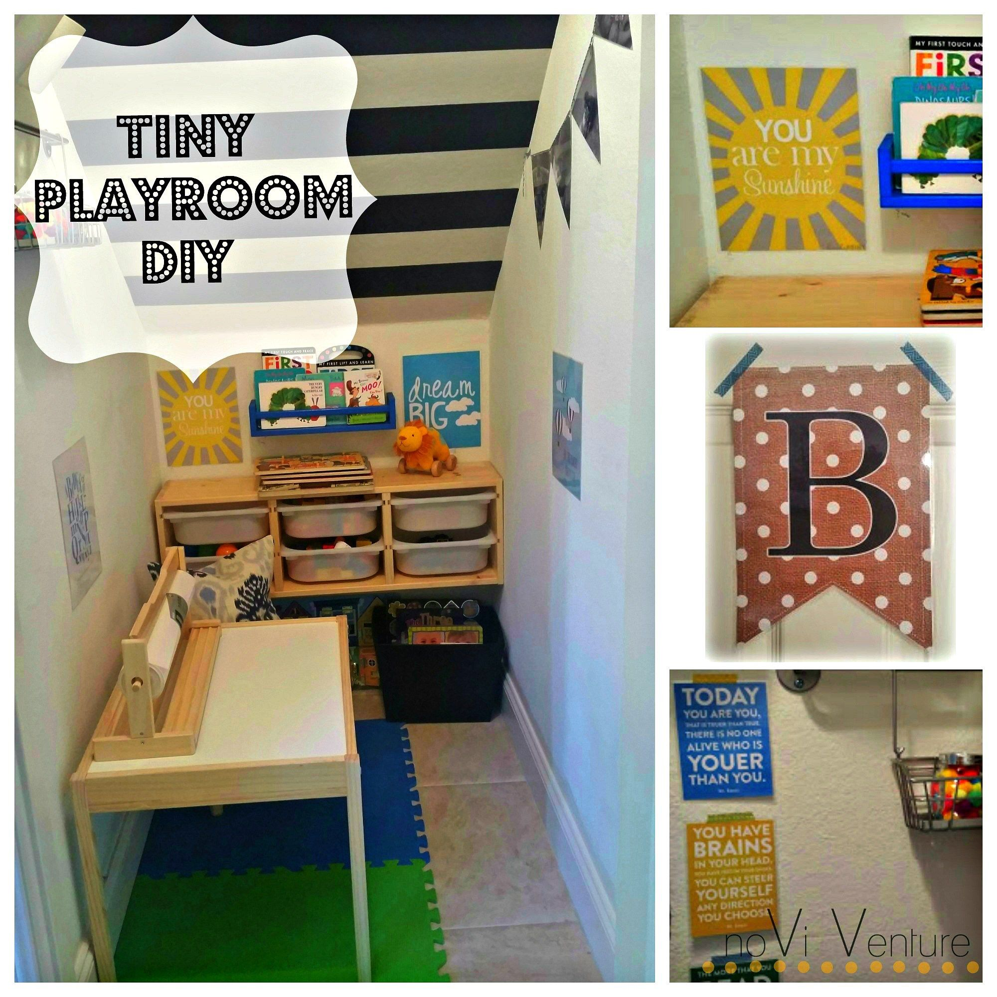 Tiny Playroom Under The Stairs For Under $100! So Easy And