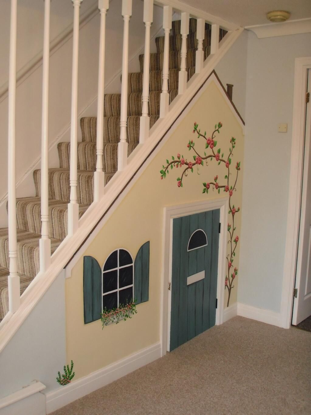Custom Murals On   Crafts In 2019   Under Stairs Playroom