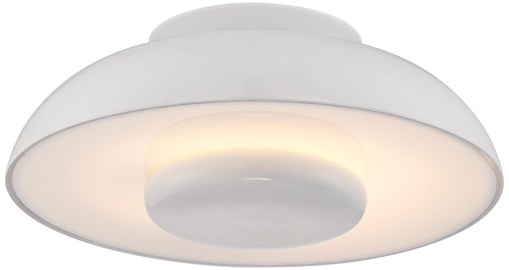 """Playroom Contemporary White 15 3/4"""" Wide Flush Mount Ceiling"""