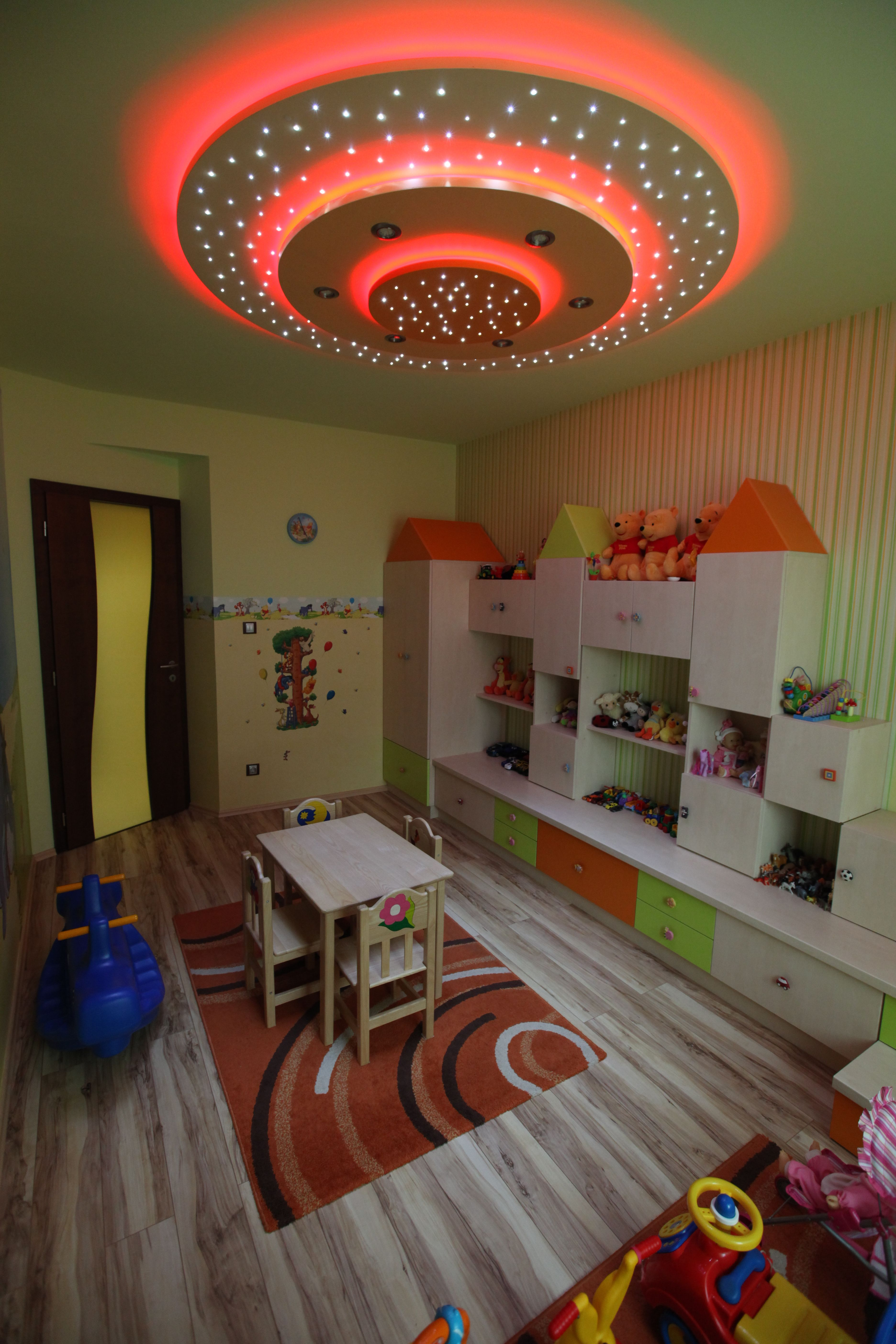 Children's Playroom With Multi-functional Starry Ceiling