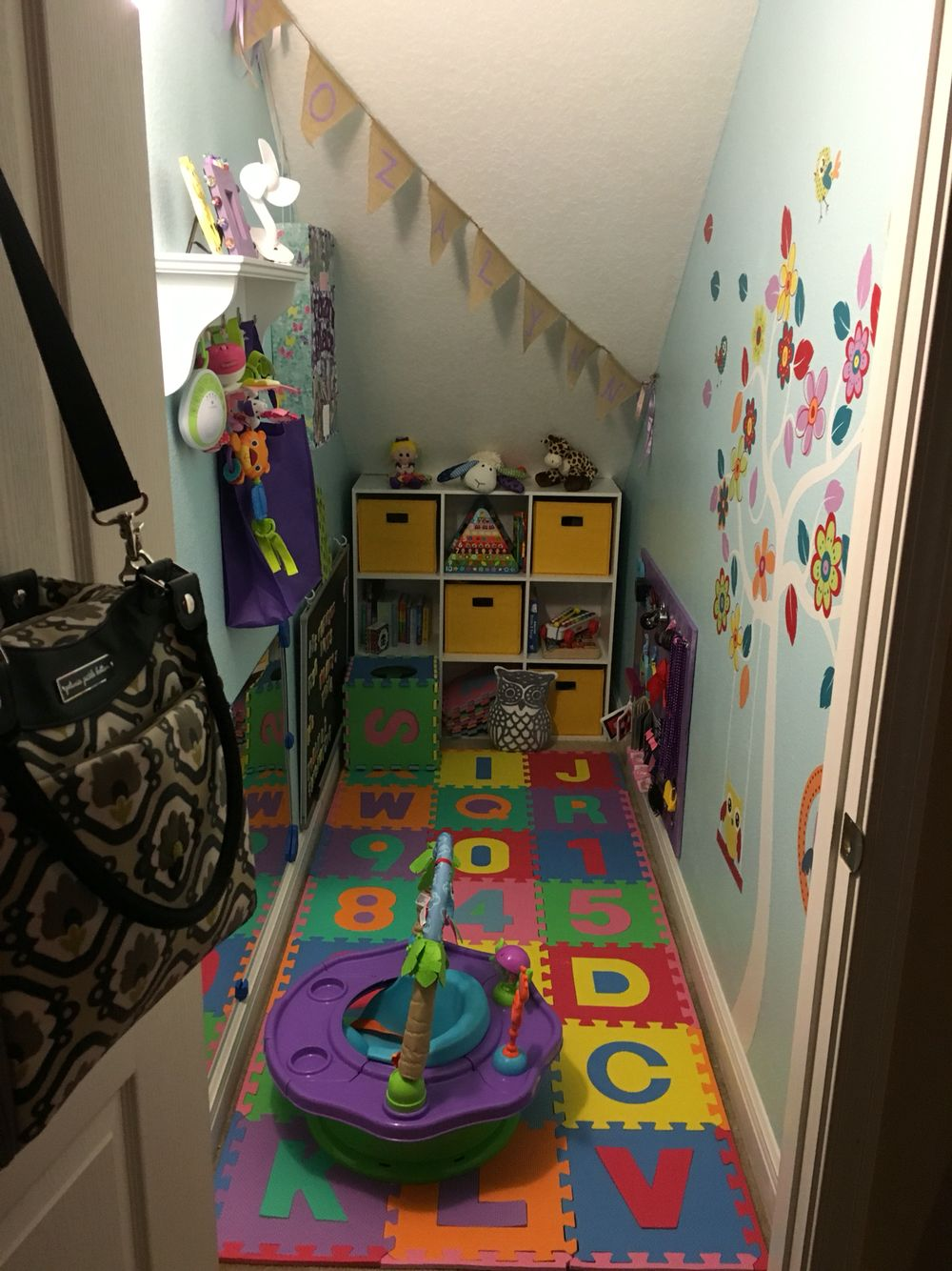 Baby Playroom Made From Closet Under Stairs   Projects