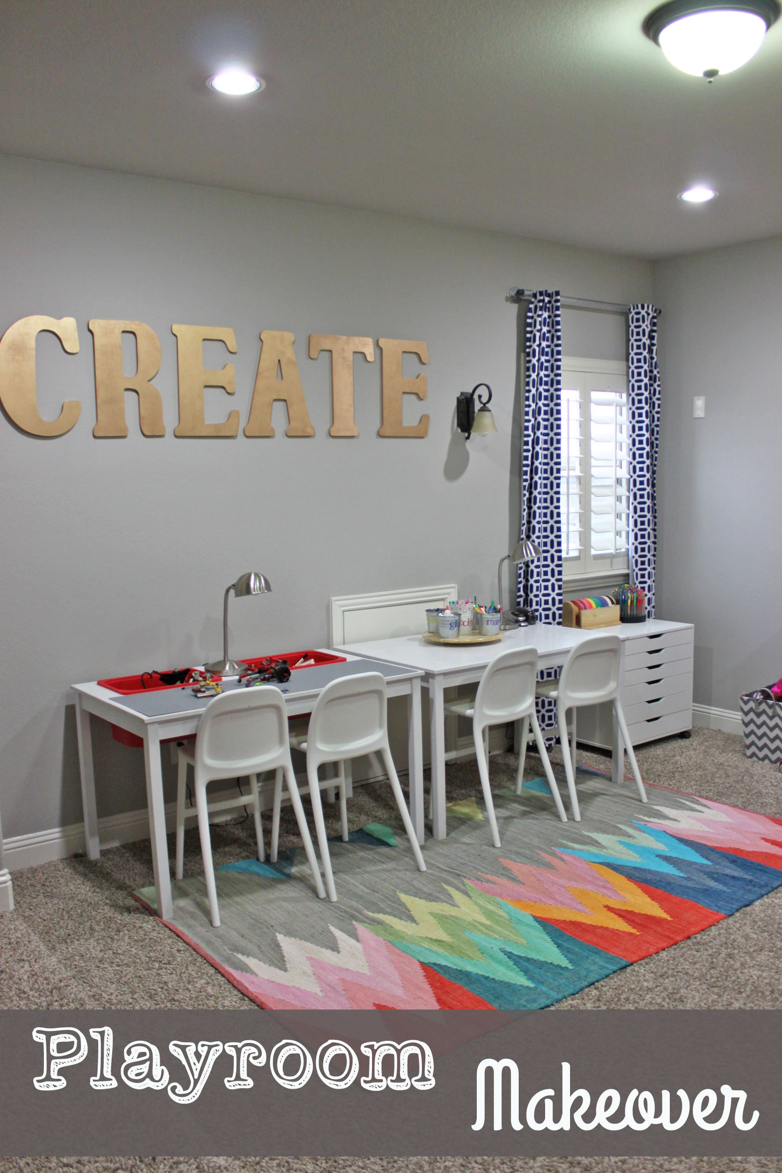Playroom Makeover! Art Center, Lego Table, Dress Up Storage, And