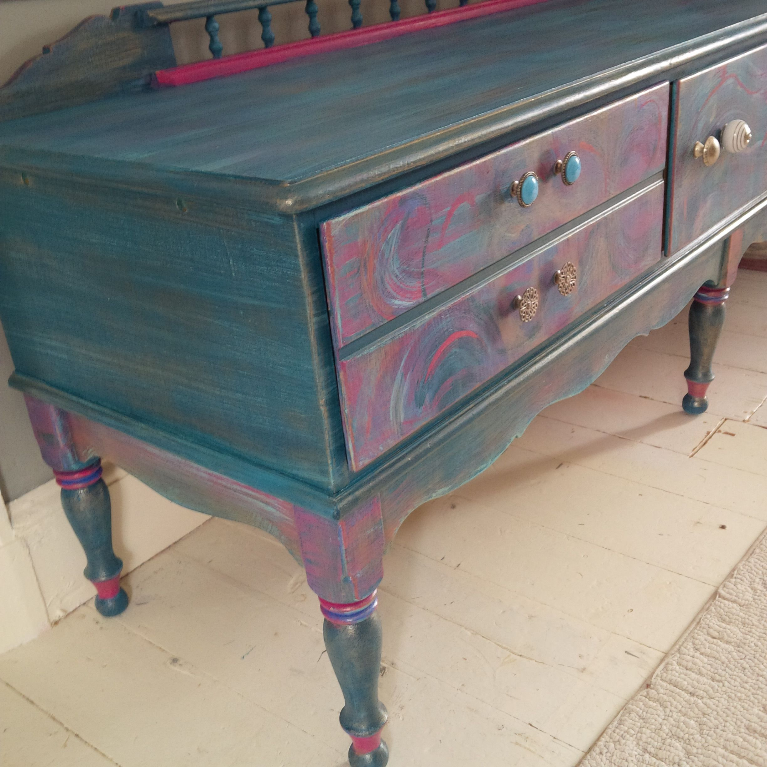Playfully Painted Playroom Console By June Moon Of Poppy