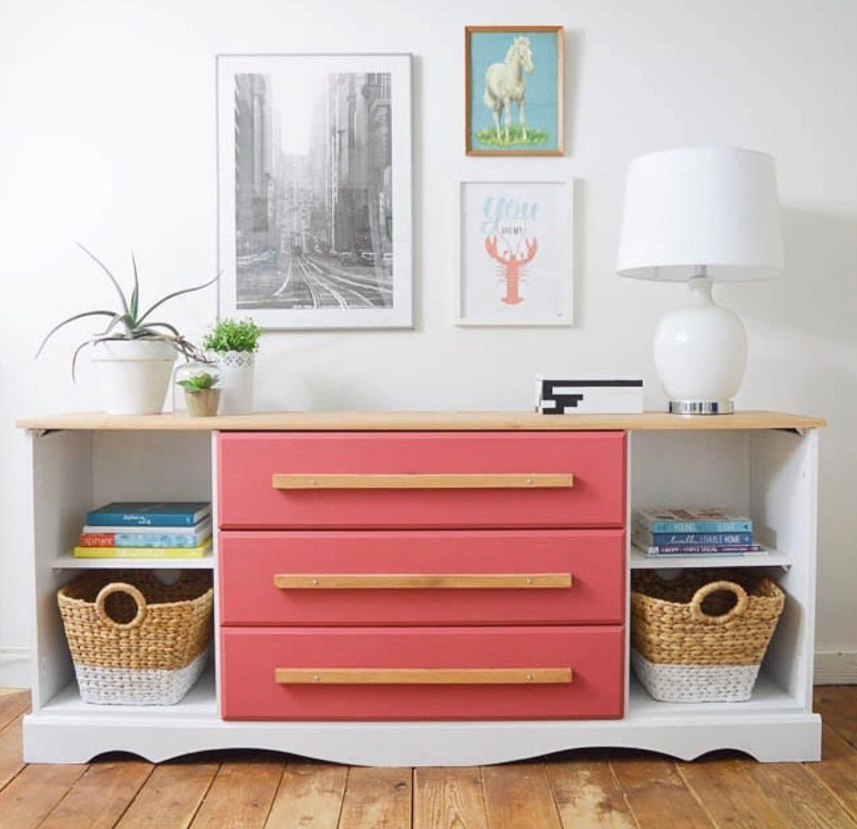 A Blushing Bombshell Credenza In The Playroom | Home