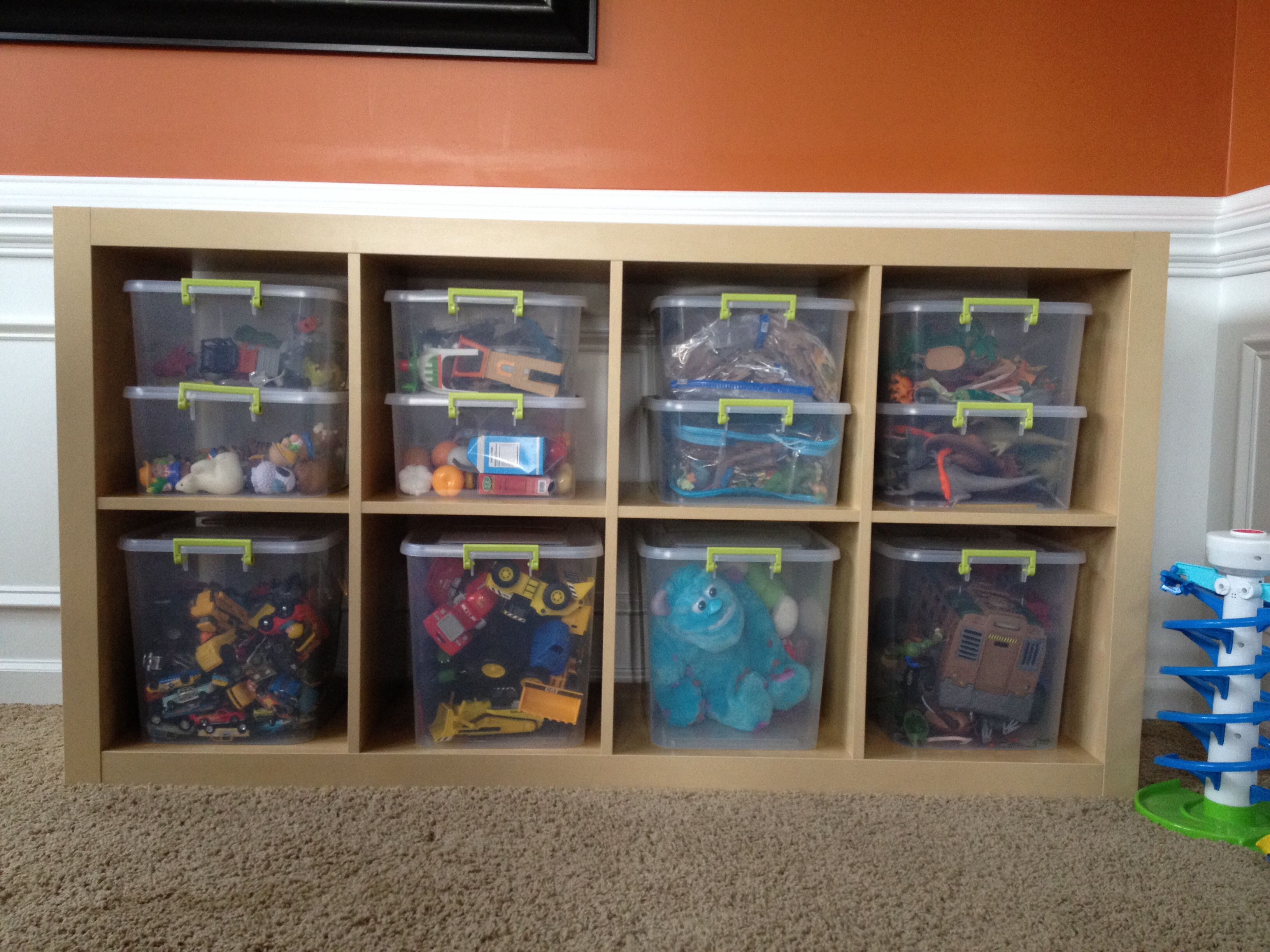 Playroom Toy Organization Expedit Book Case From Ikea