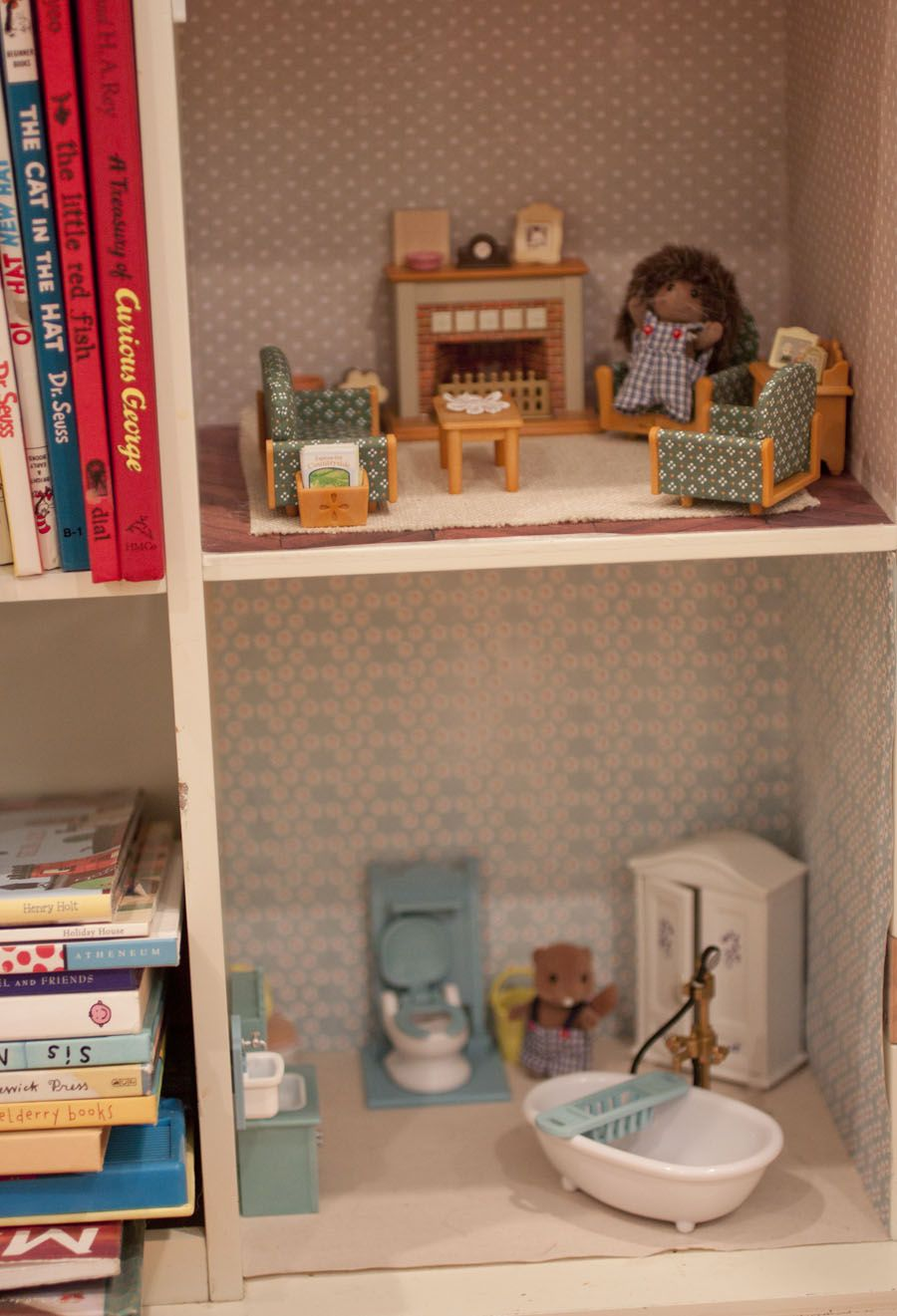 Bookshelf Dollhouse For Calico Critters | For C | Playroom
