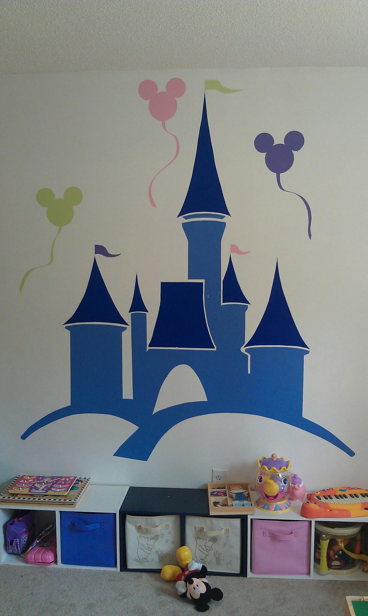 Playroom Mural For Our Little Princess   Playroom Mural