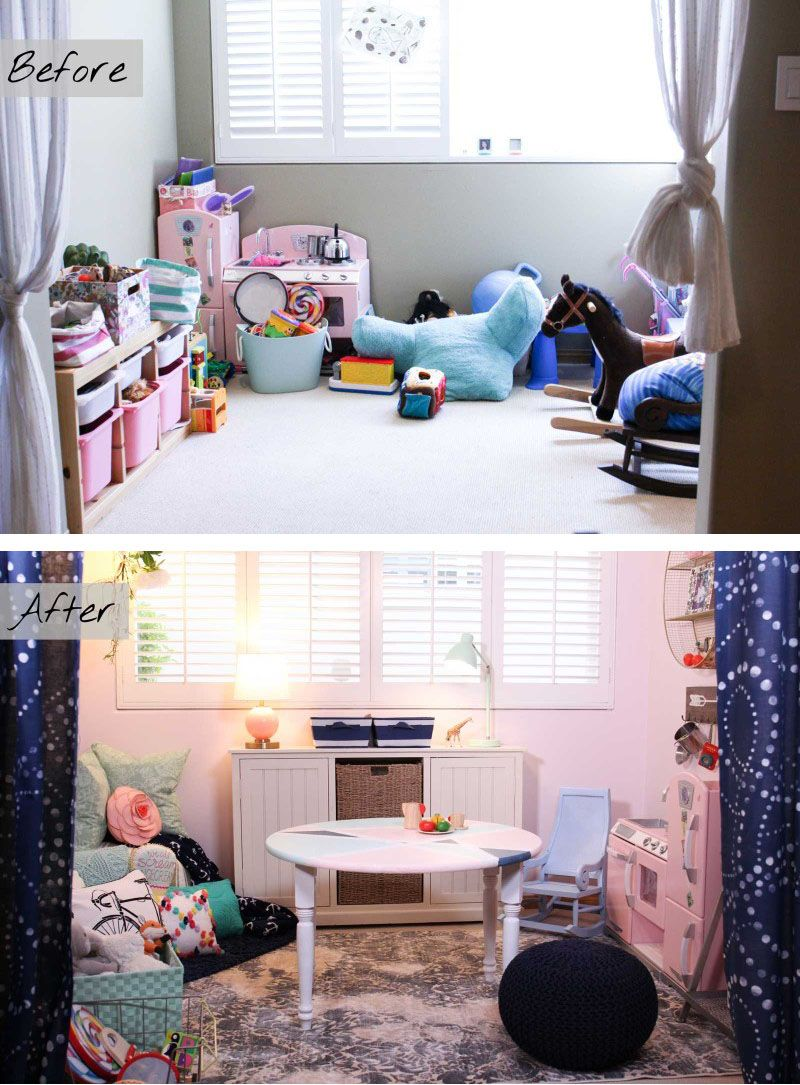Decorates: Pink & Powerful Playroom Makeover | Decor