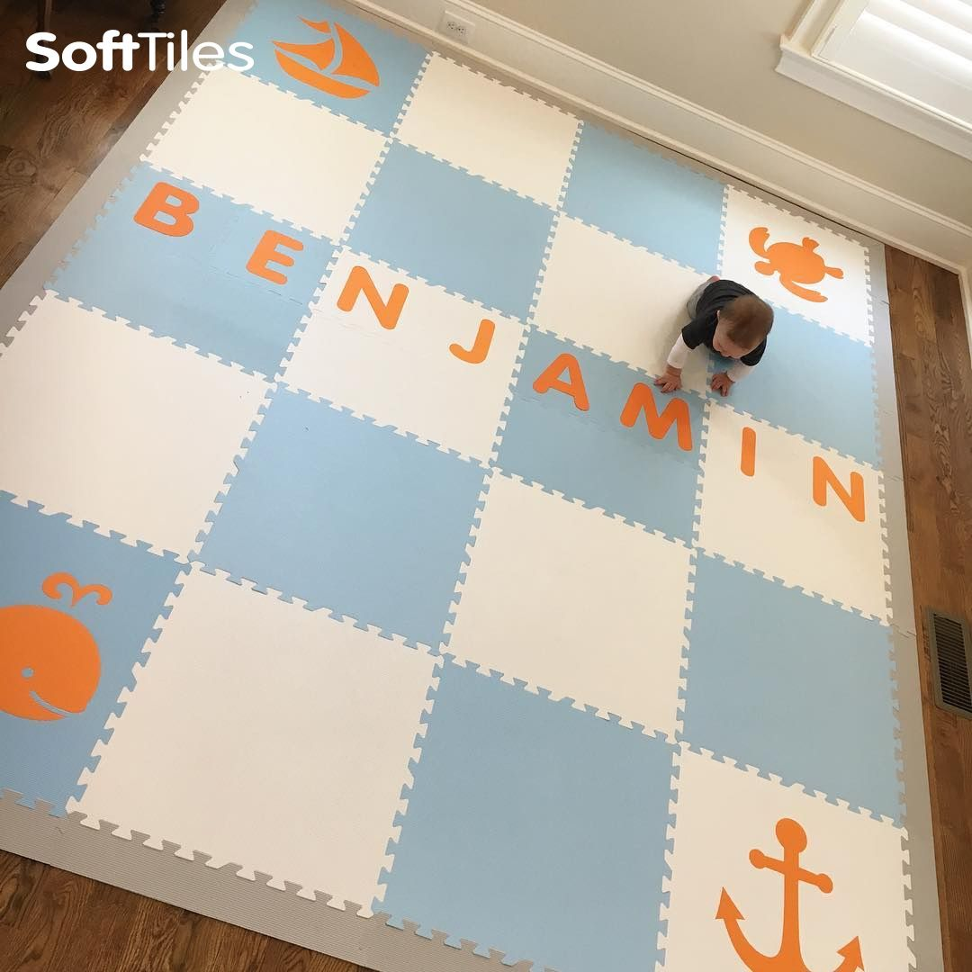 Personalize Your Playroom Floor With Your Child's Name By