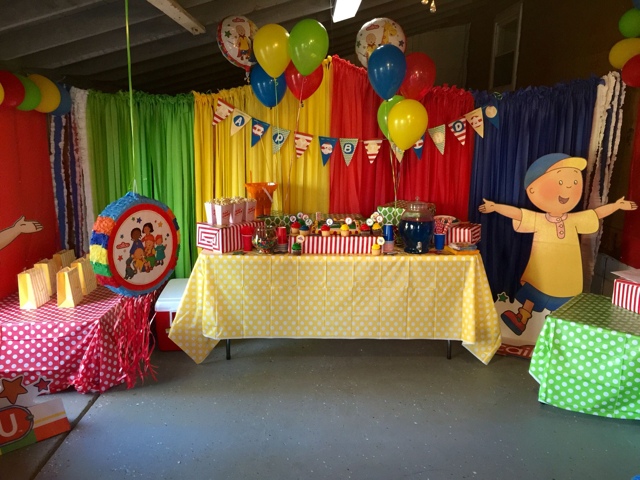 Ella's Caillou Birthday Party In Our Playroom! | Ella Turns