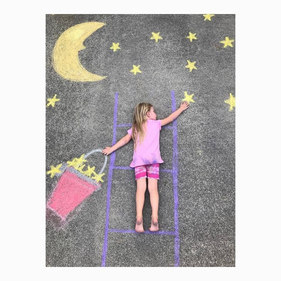 Chalk Art Photo Prop For Toddlers   Playroom Ideas And Kids