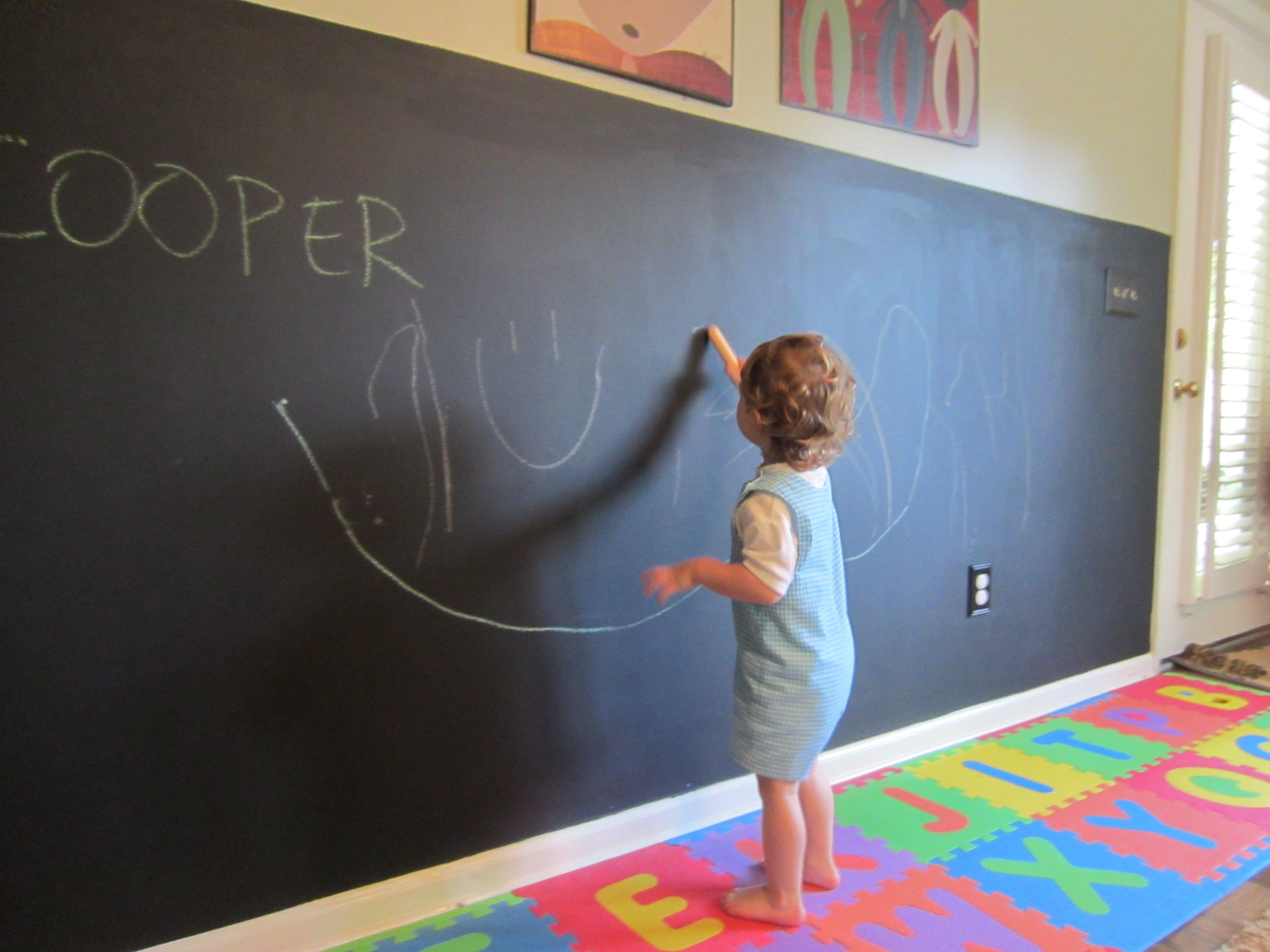 Chalkboard Wall In Playroom…this Is Will In My Childrens