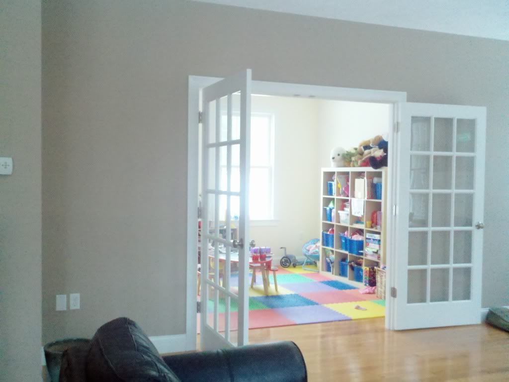 French Door Idea For Entry To Playroom Might Help Keep It