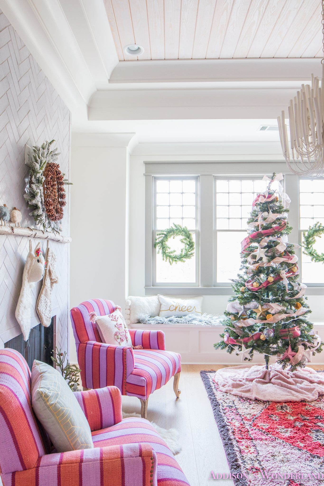 Our Festive & Colorful Christmas Holiday Kid's Playroom Tour