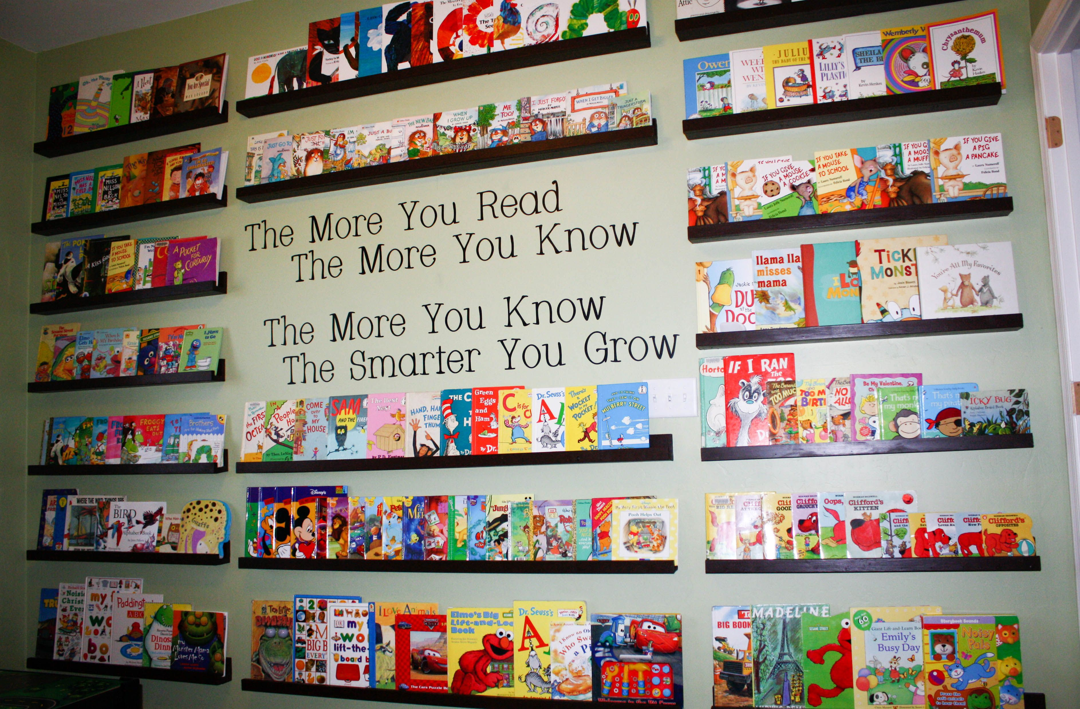 The Book Wall In Our Kids Playroom We Want To Encourage The