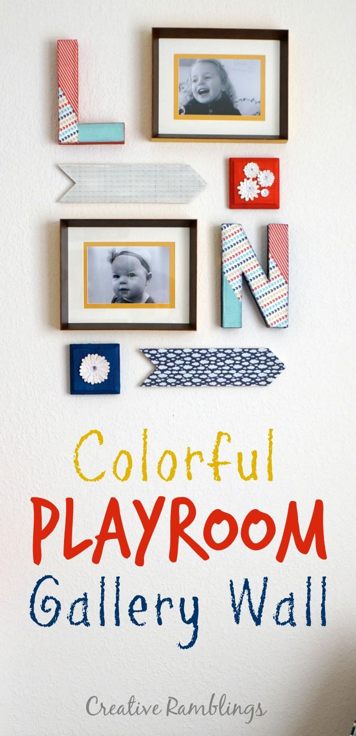 Colorful Playroom Gallery Wall | Colorful Playroom, Gallery