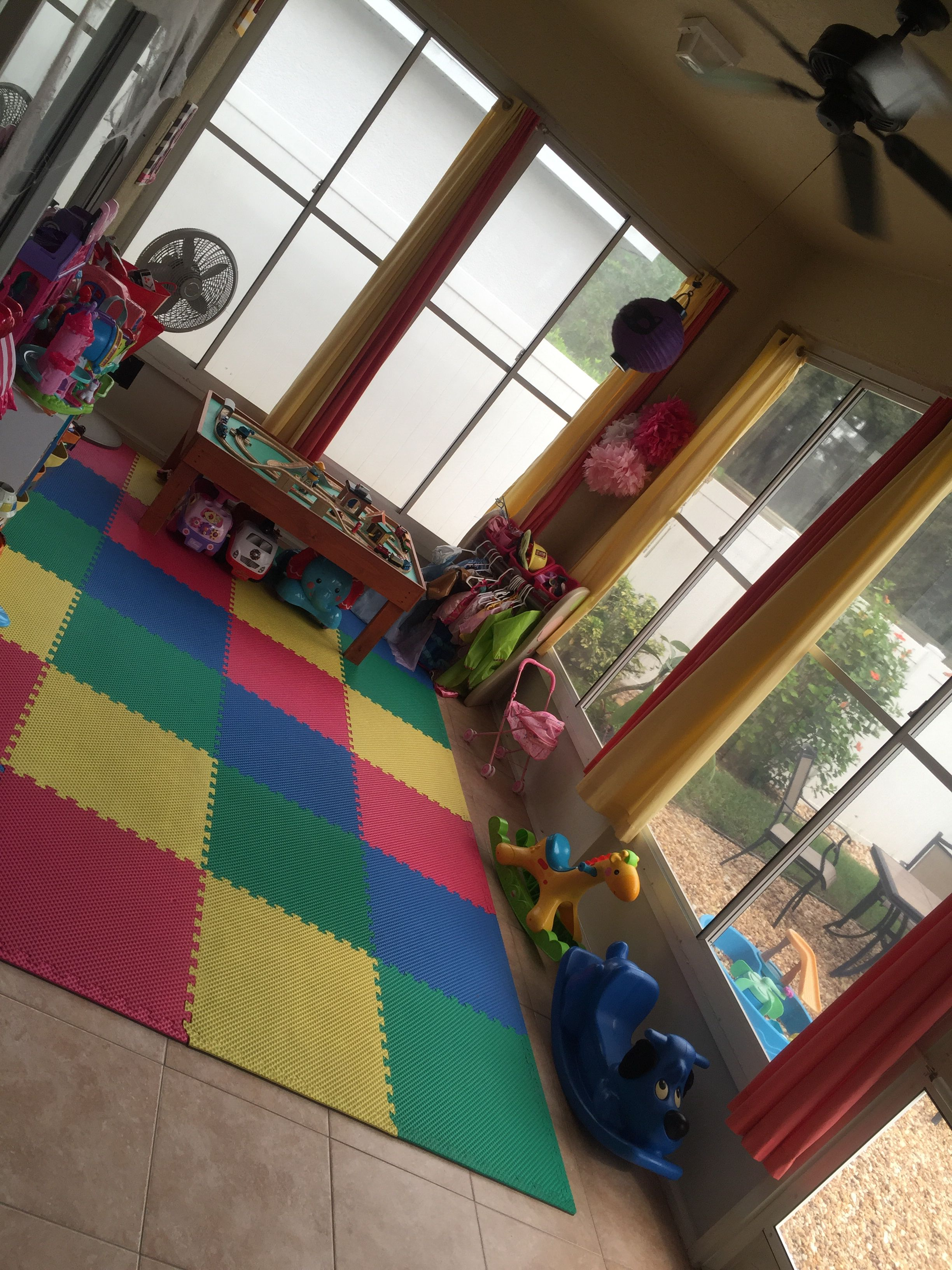 Turn Your Back Porch Into A Playroom Or Office By Adding