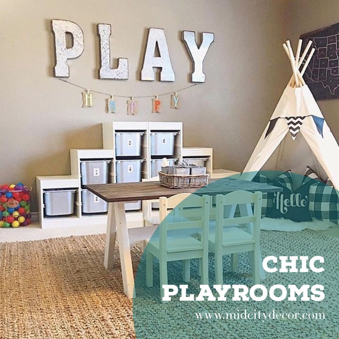 Simple But Fun Playroom Interior Ideas Your Kids Will Love | Modern