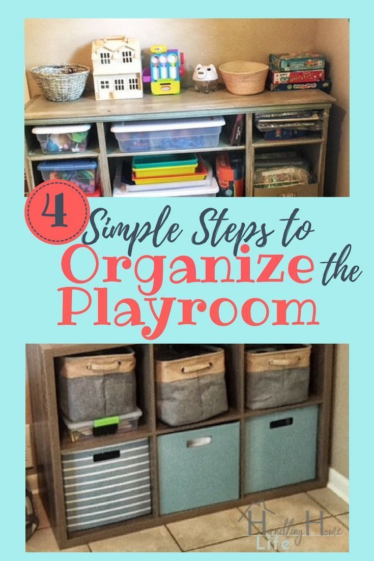 Playroom Organization: How To Organize & Declutter Kids' Playroom In
