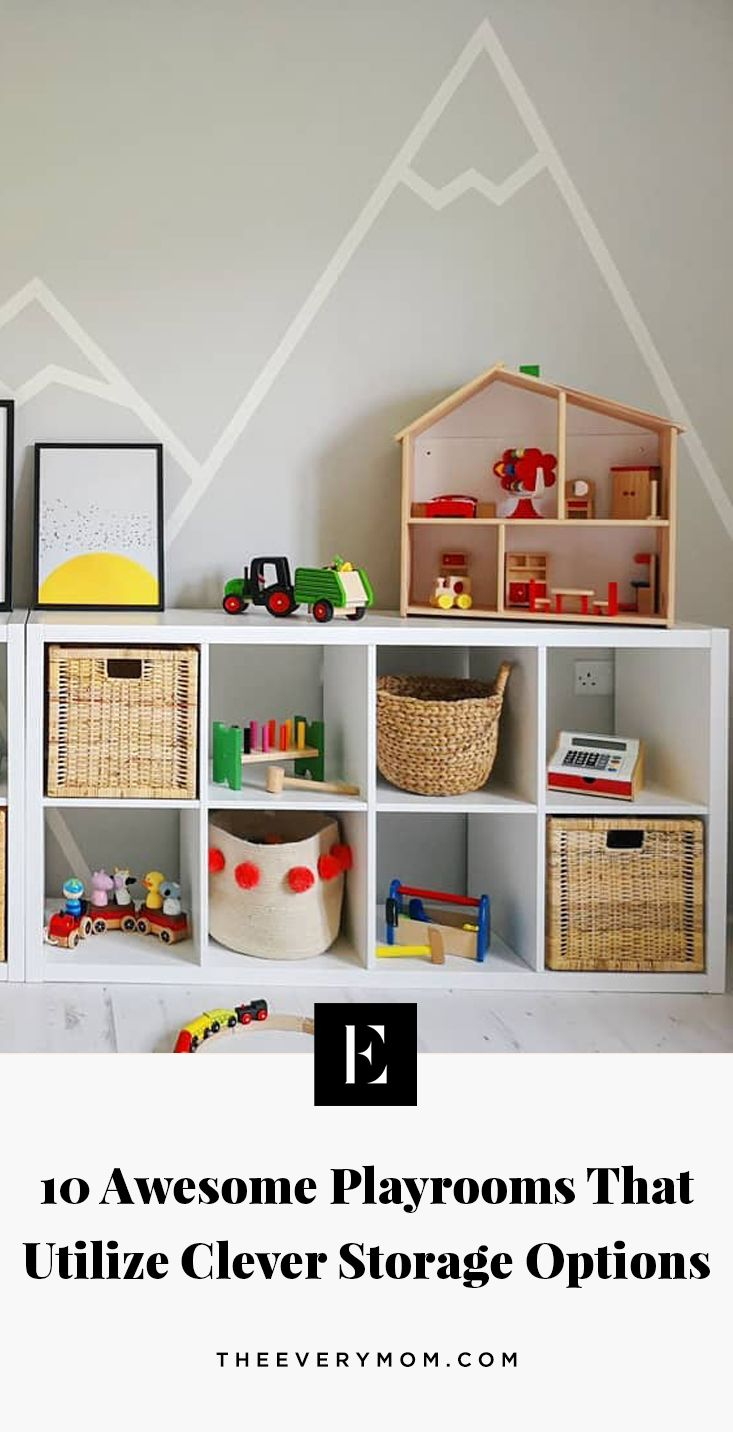 10 Awesome Playrooms That Utilize Clever Storage Options
