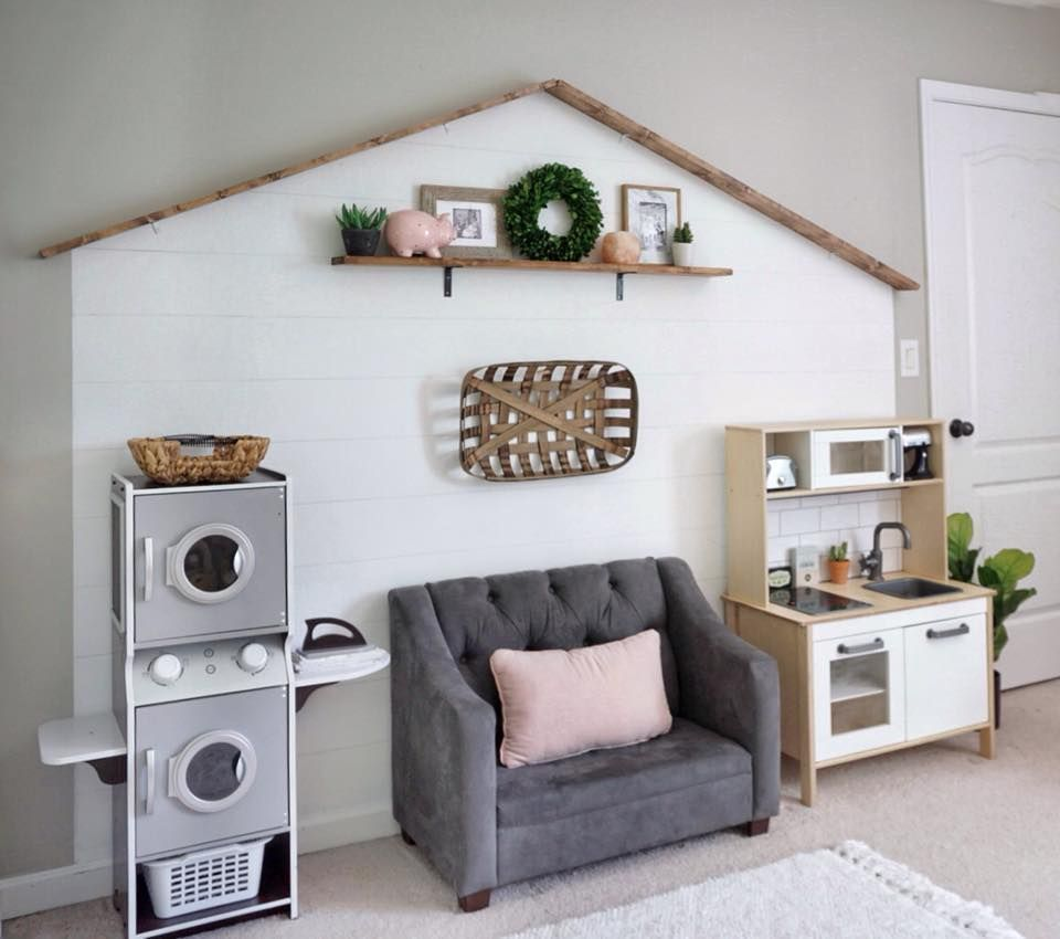"""Darling Farmhouse """"fixer Upper"""" Inspired Playroom Faux"""