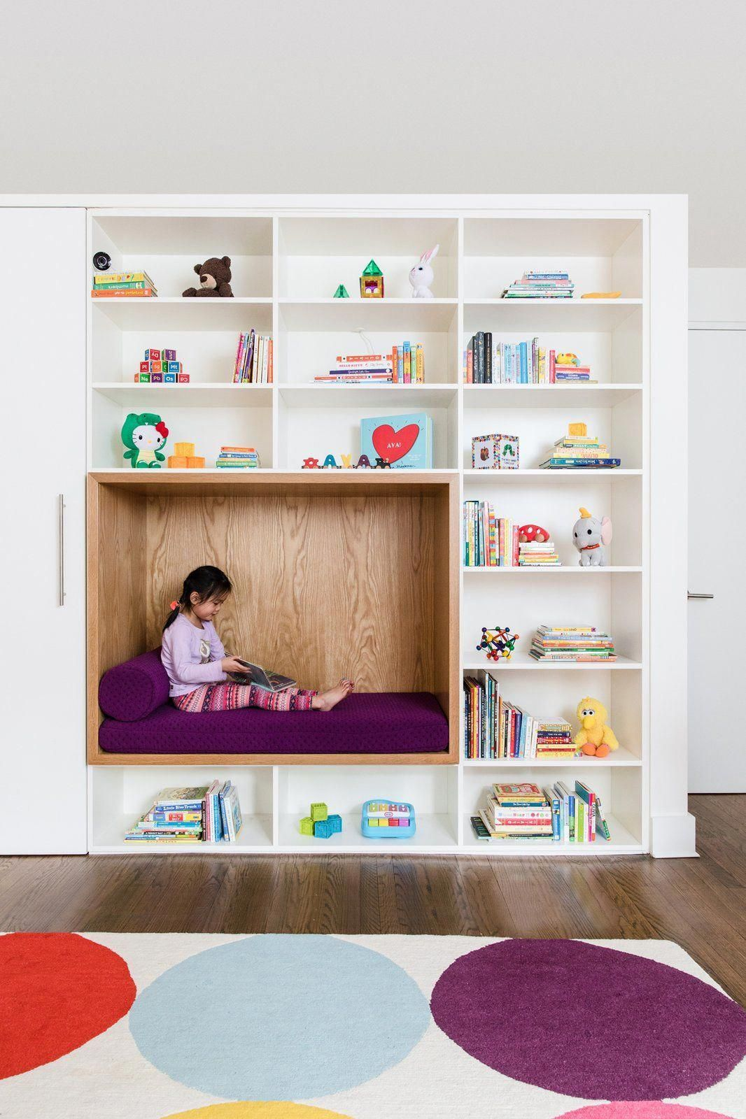 Kids Room, Shelves, Bookcase, Playroom Room Type, Bench, Toddler Age