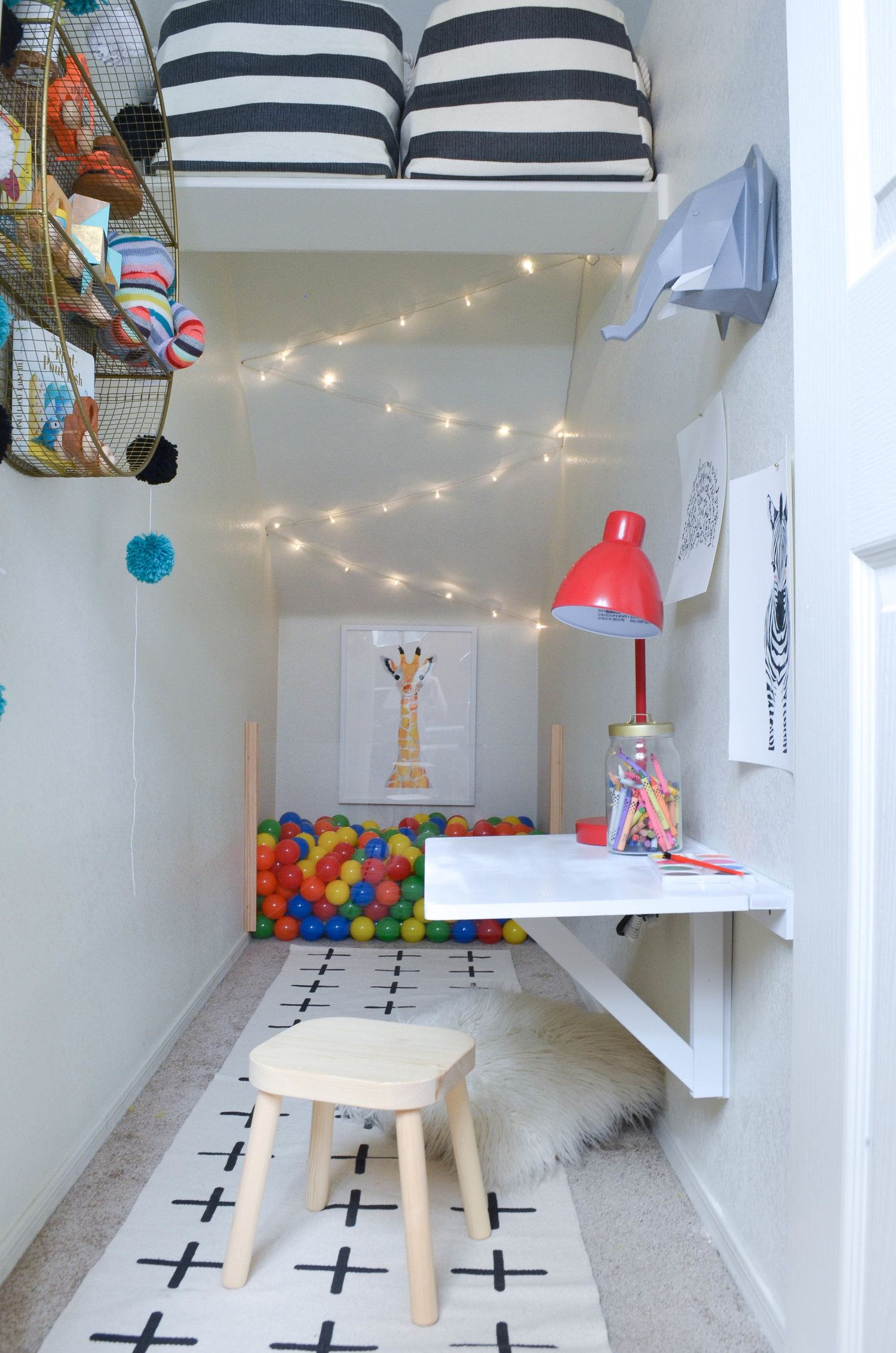 The Big Reveal: Under The Stairs Play Closet   Playroom