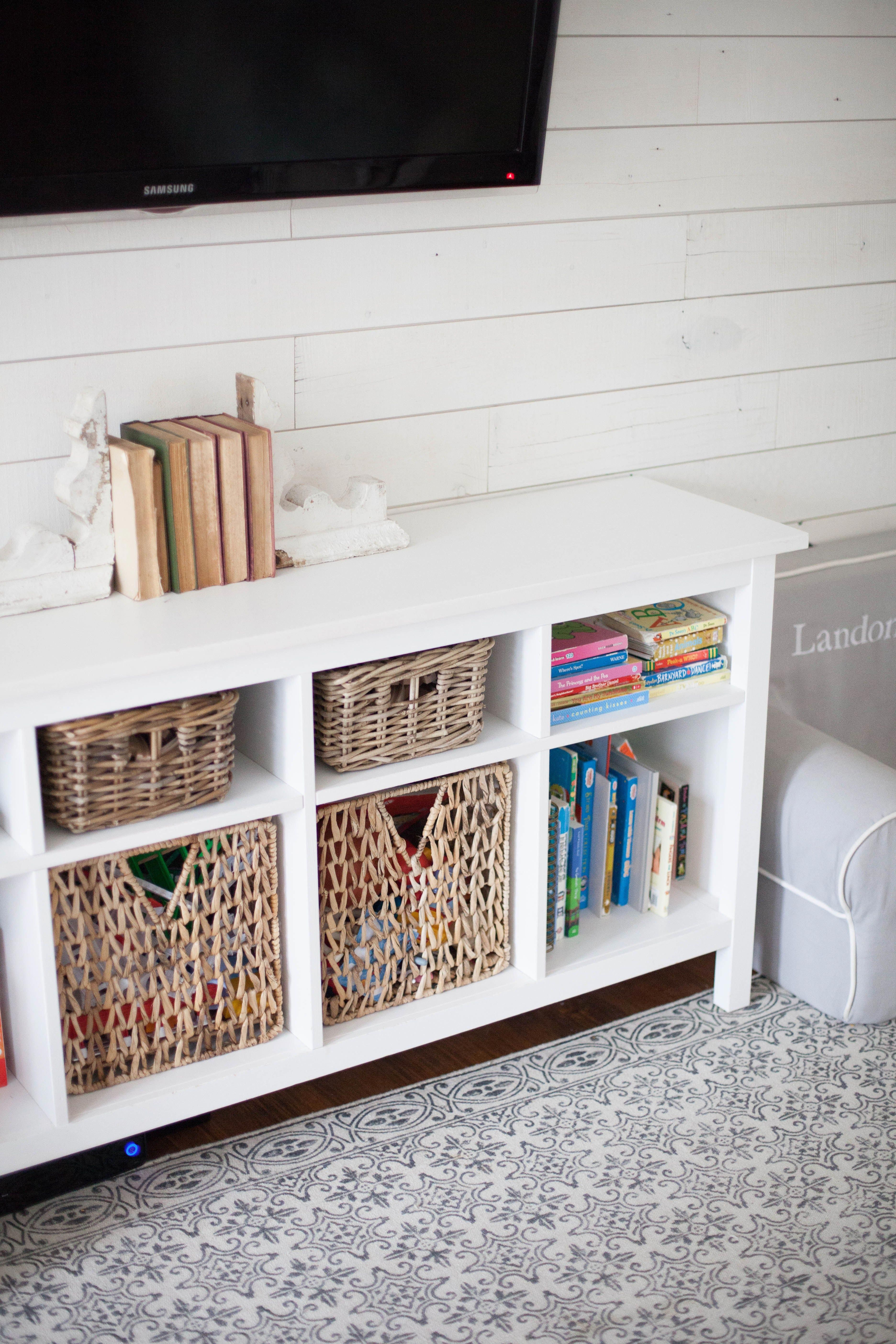 A Cottage Style Playroom That Functions As A Family Room As Well