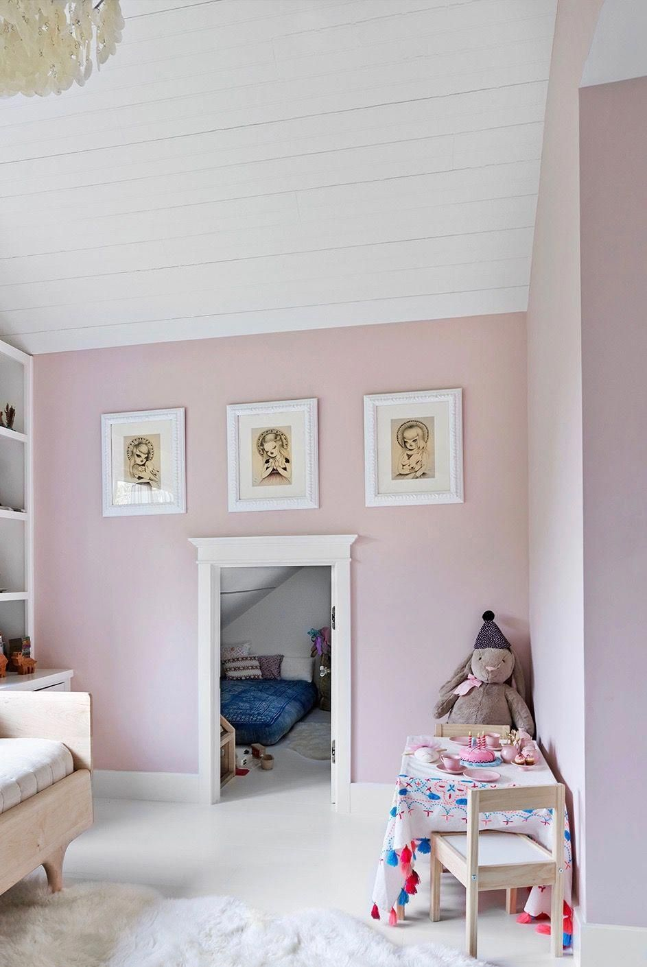 Pink Playroom And A Bedroom Nook | California Style House Tour On