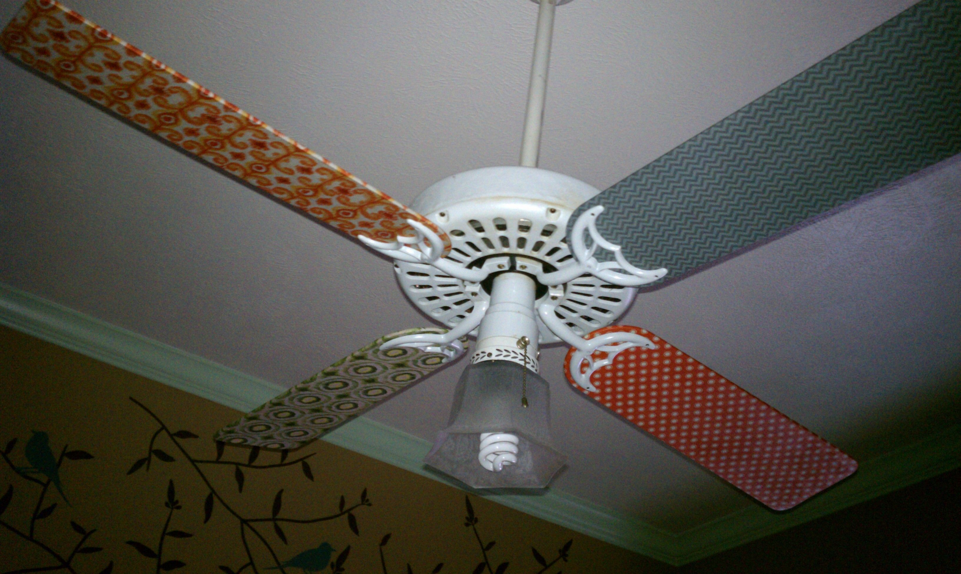 After: Ceiling Fan Blade Redo Pic 3 Of 4 Playroom Fan