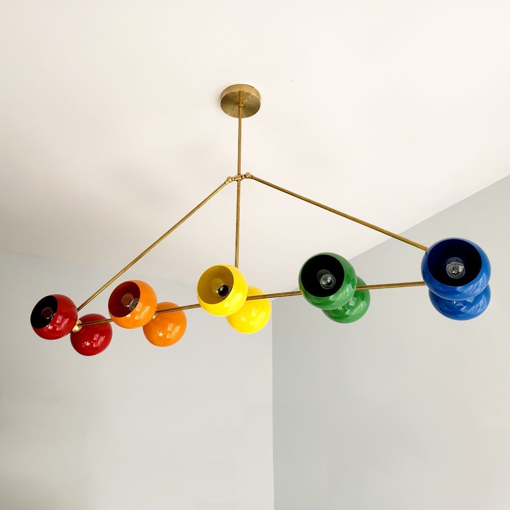 Large And Long Rainbow Chandelier For Kids Room Or Playroom
