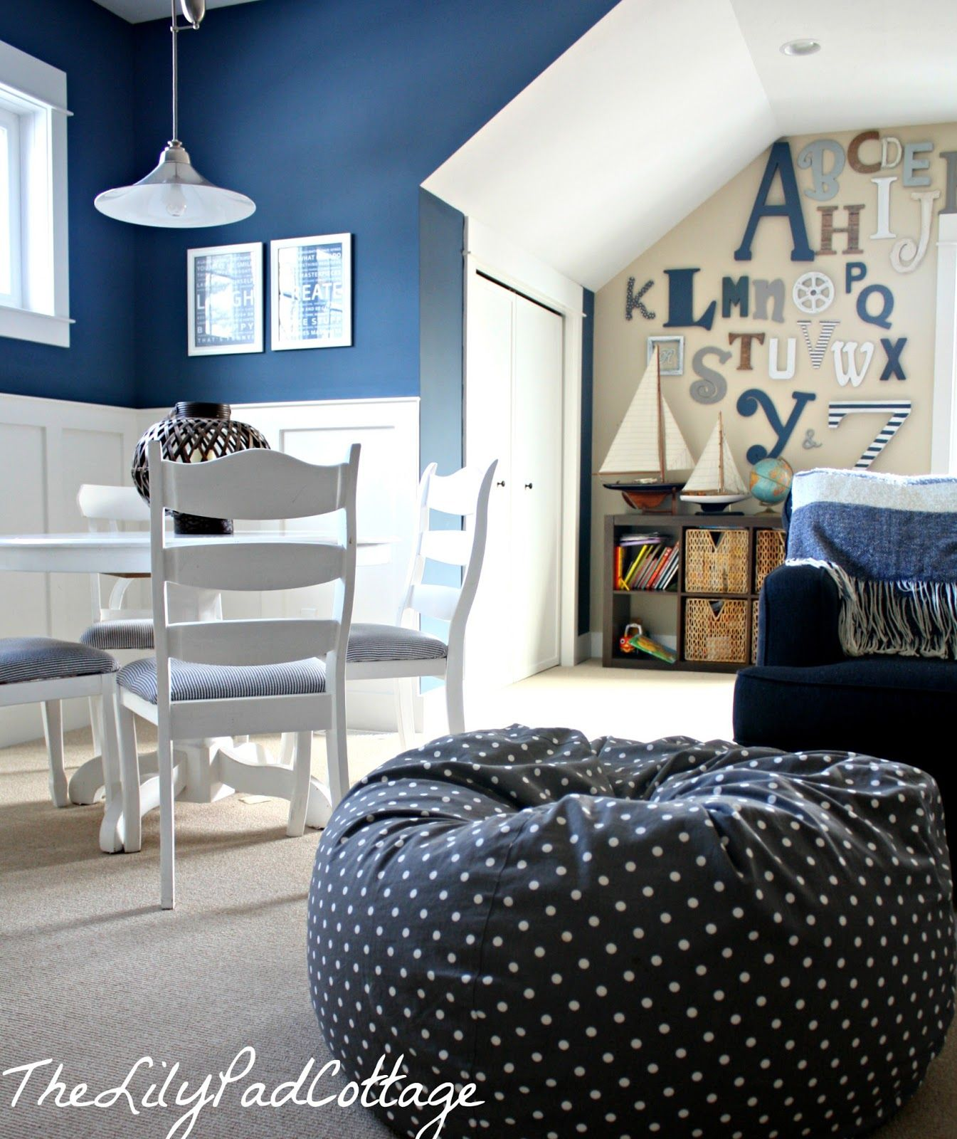 Playroom Gallery Wall | Blue Playroom, Home, House Colors