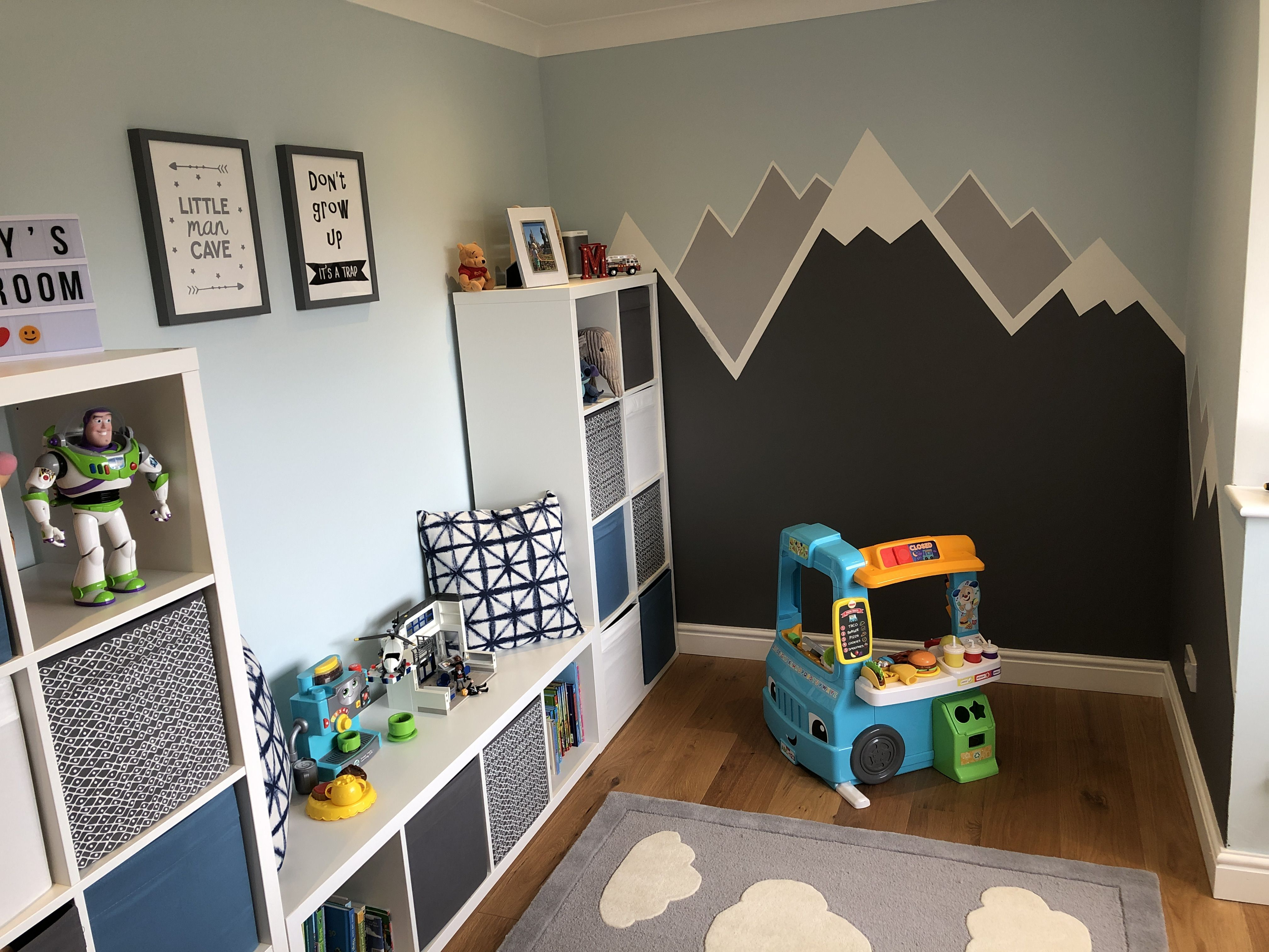 Mountains And Clouds Theme Playroom Farrow And Ball Paint