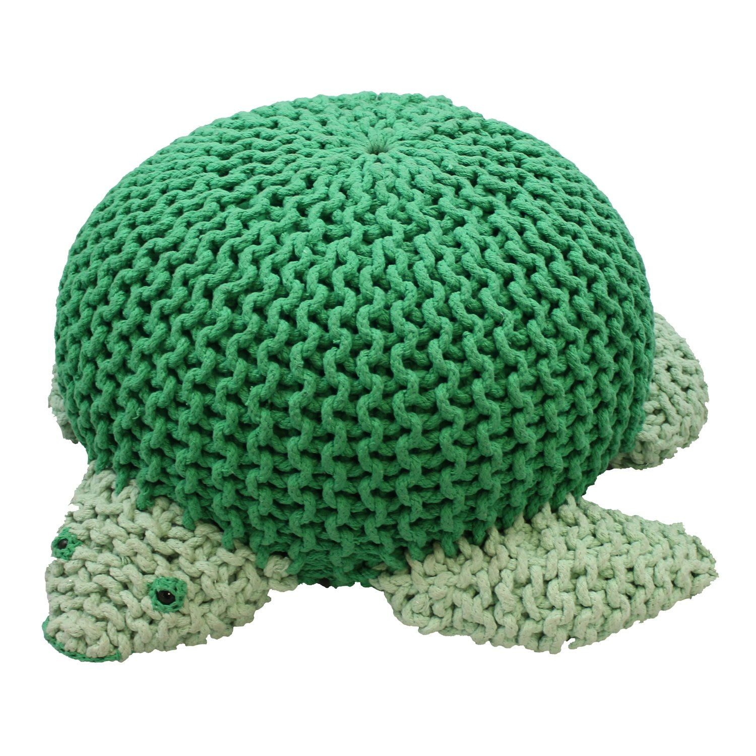 Oversized Knitted Sea Turtle Pouf Stool Seat Playroom