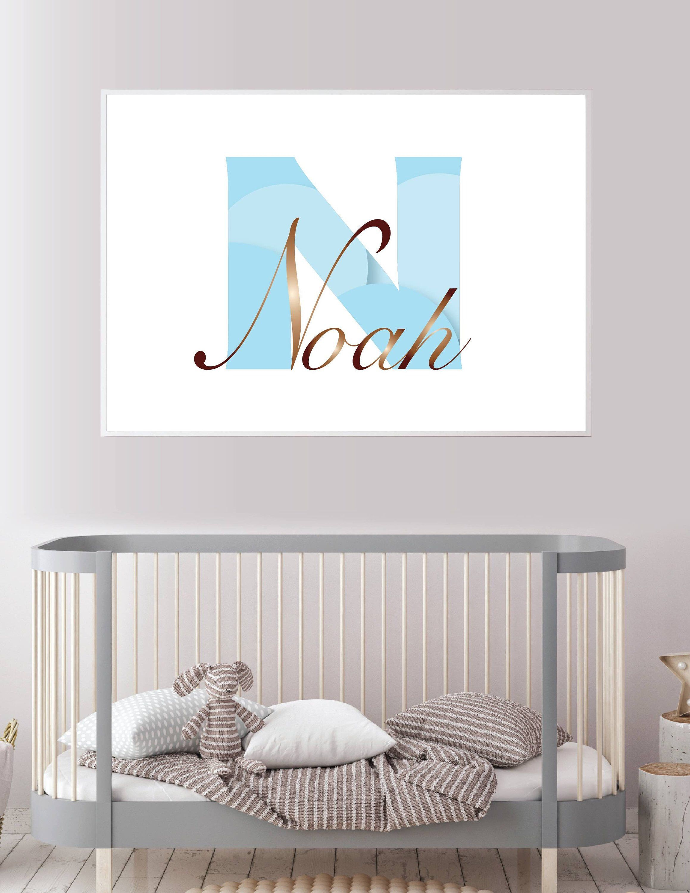 Name Printable For Nursery, Bedroom, Playroom, Dylan, Blue