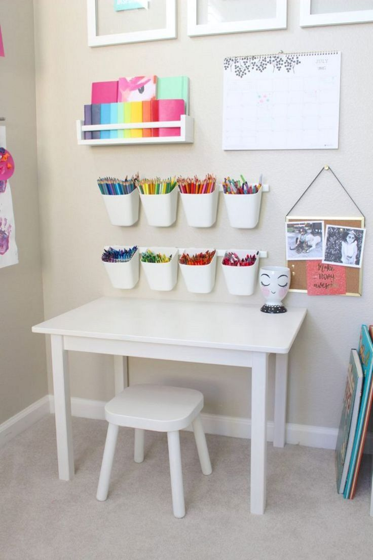 Baby Playroom Ideas With Box And White Table And Chairs Also