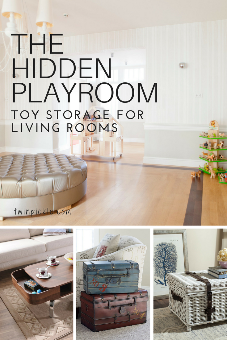 Toy Storage For Living Rooms: The Hidden Playroom | Living