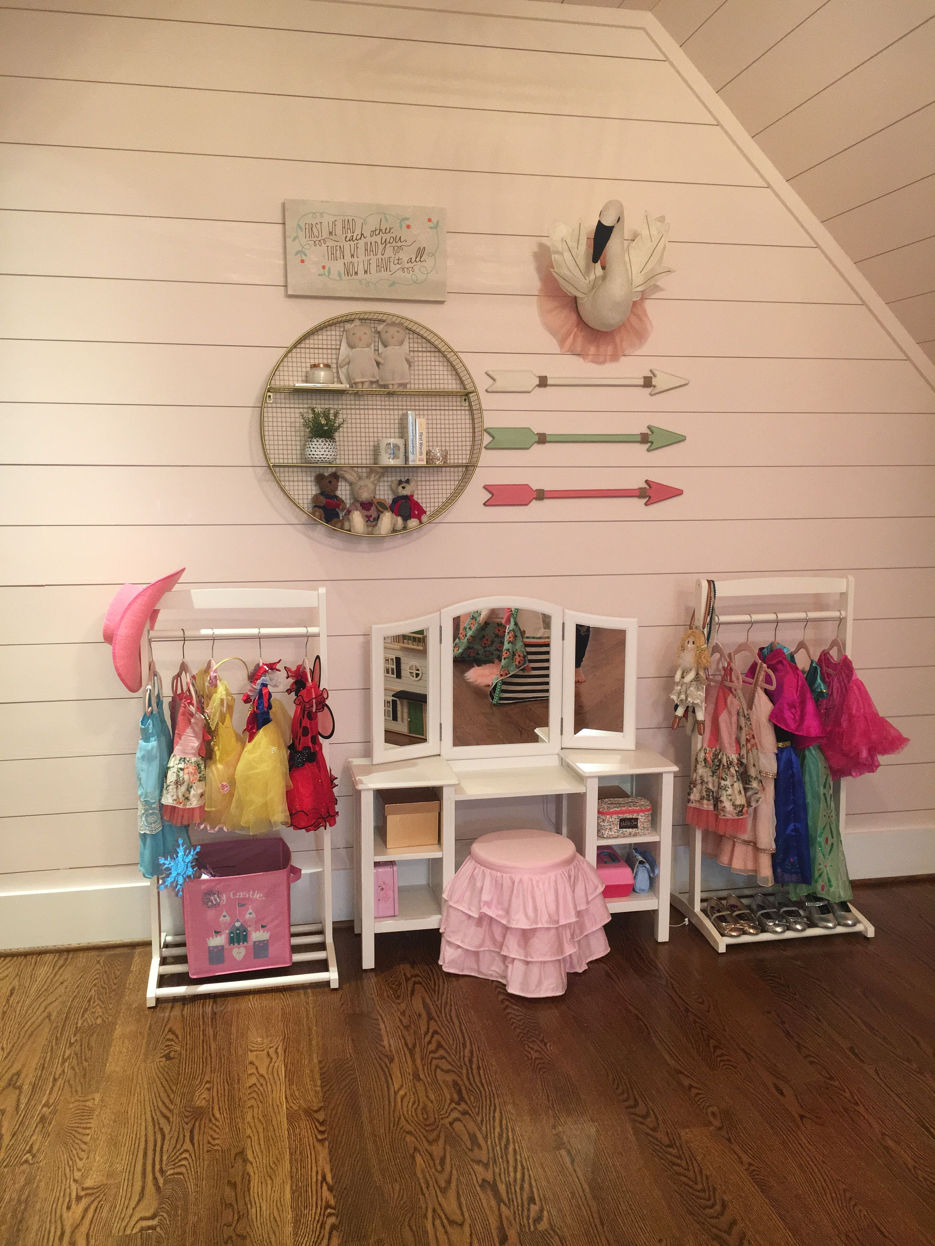 Vanity And Dress Up Area | Basement Ideas In 2019 | Playroom, Dress