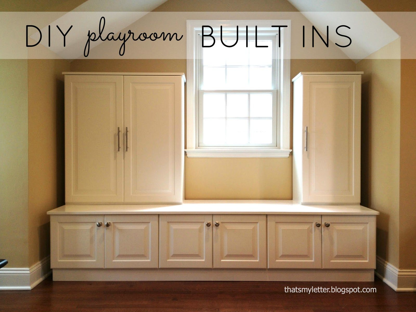 """That's My Letter: """"p"""" Is For Playroom Built Ins, Playroom Storage"""