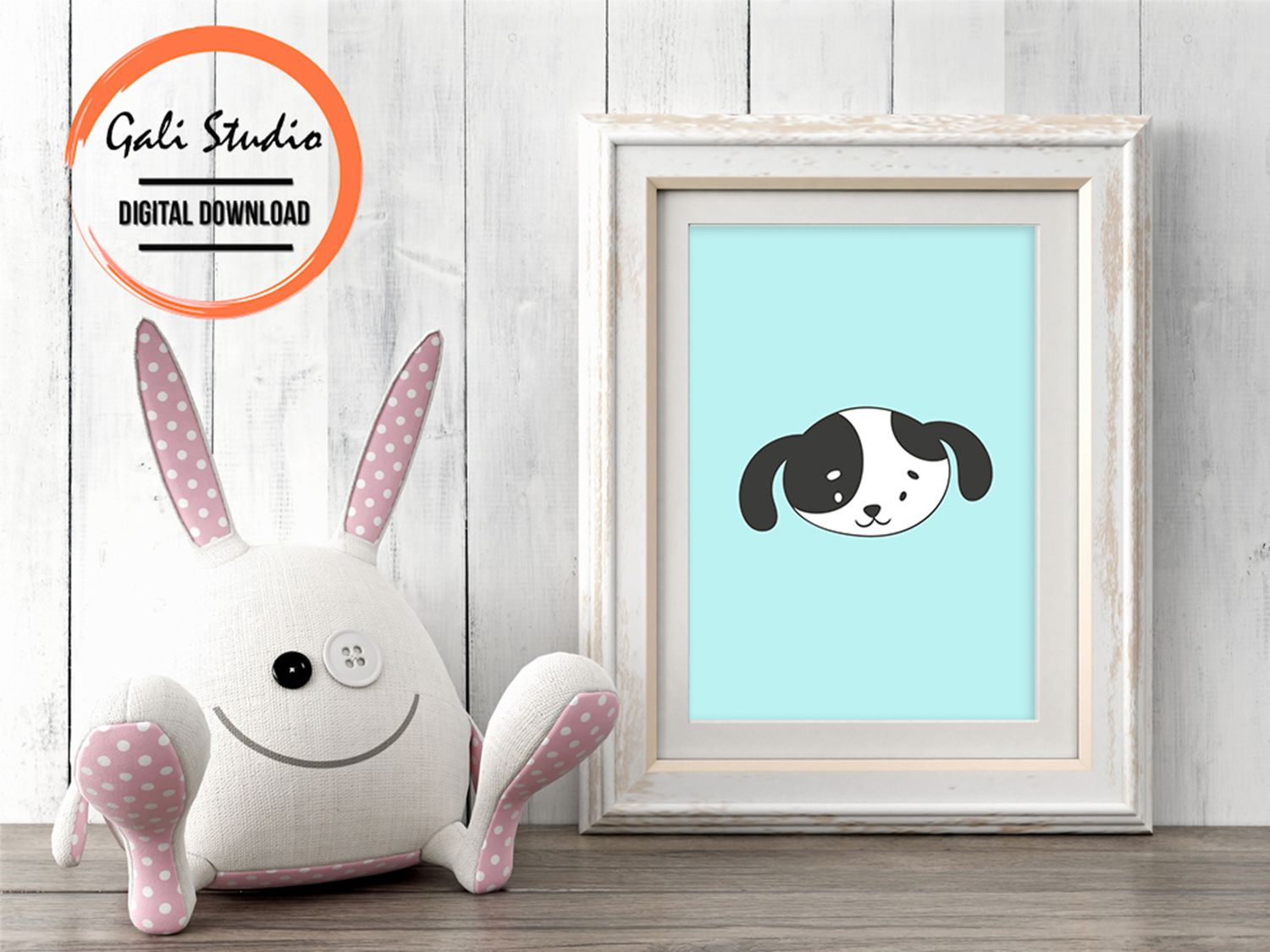 Cute Puppy Printable Poster, A Great Addition For Playroom, Children